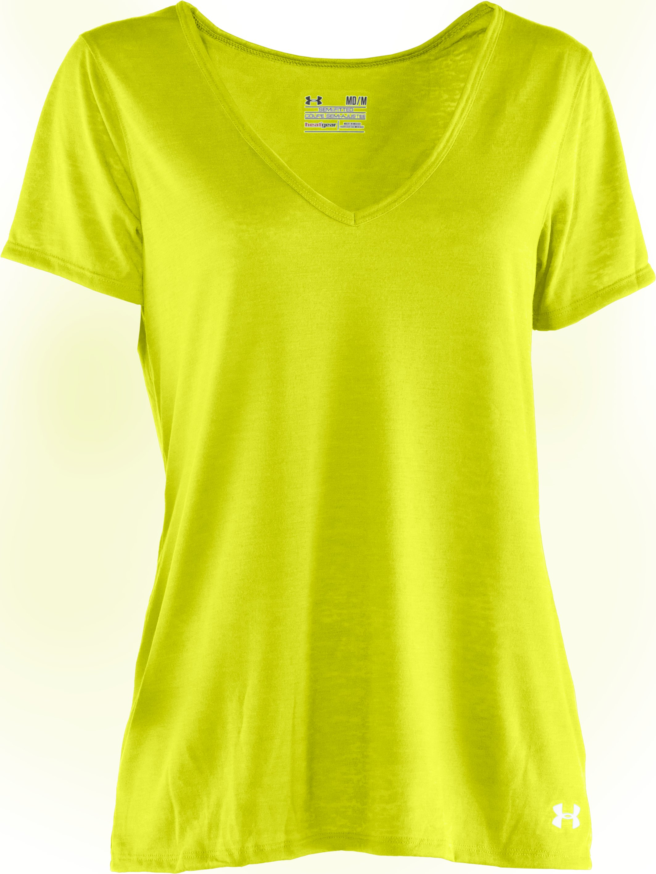 Women's Achieve Burnout T-Shirt, High-Vis Yellow