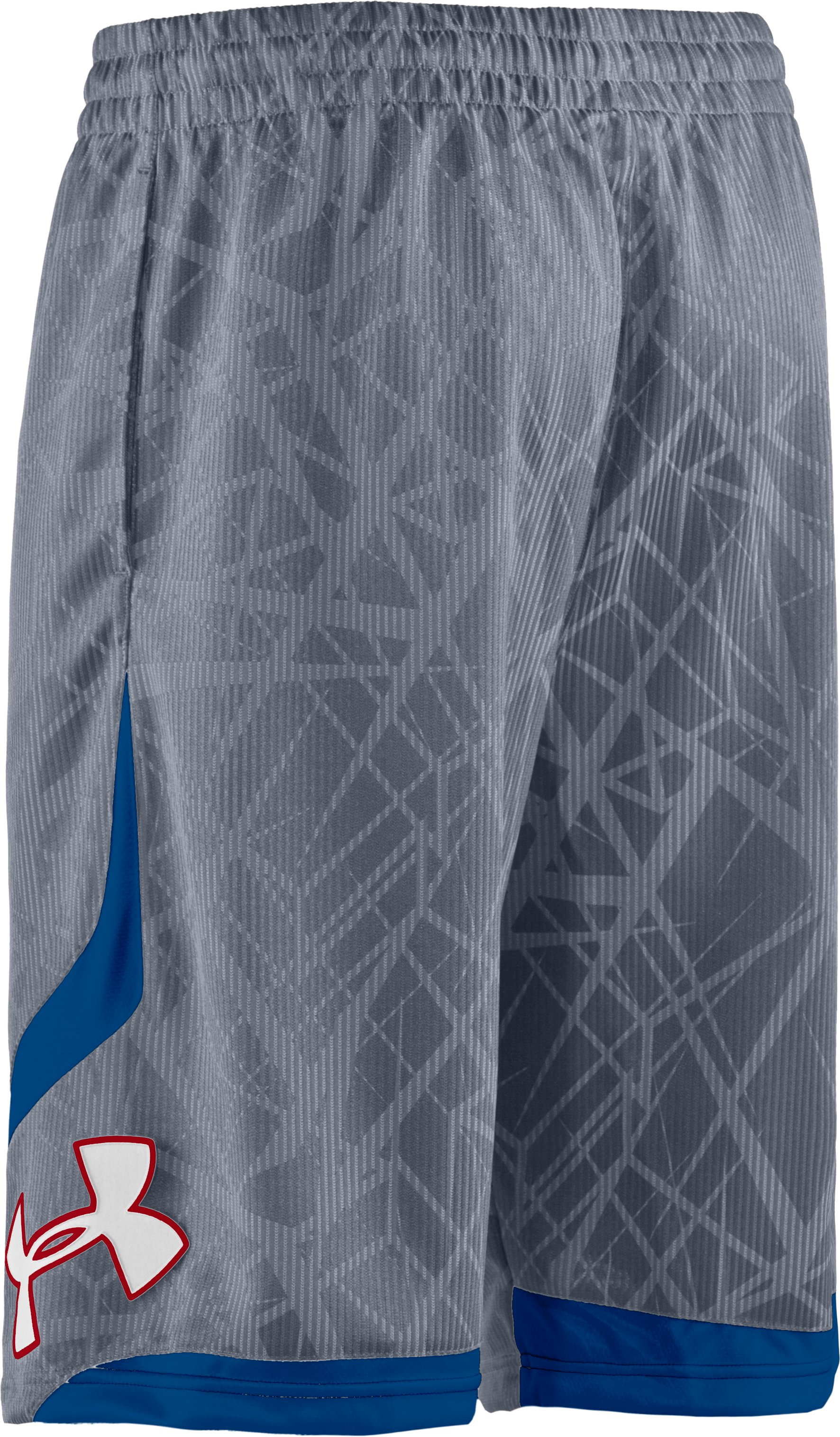 "Men's Printed UA Valkyrie 12"" Basketball Shorts, Steel"
