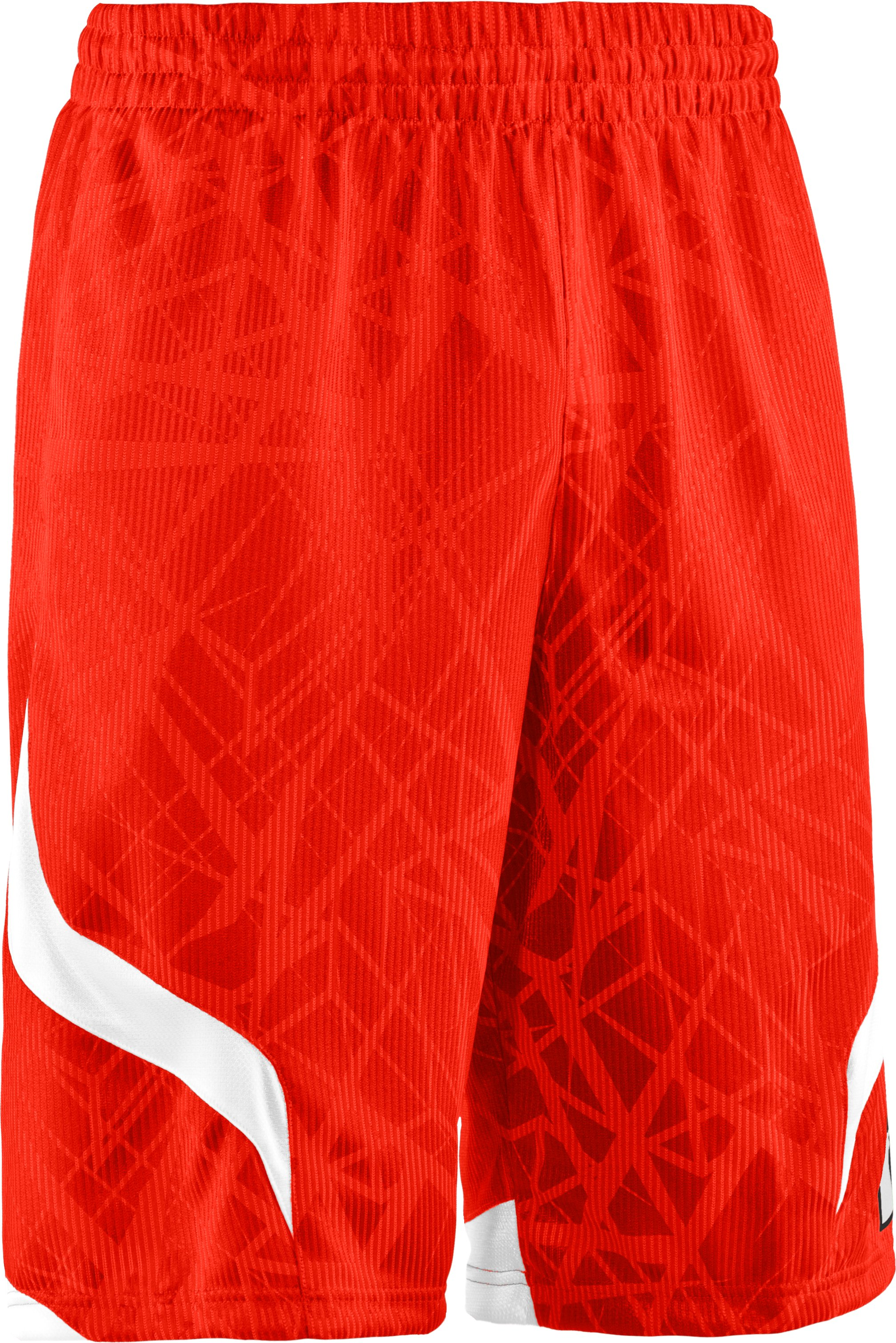 "Men's Printed UA Valkyrie 12"" Basketball Shorts, Fuego,"