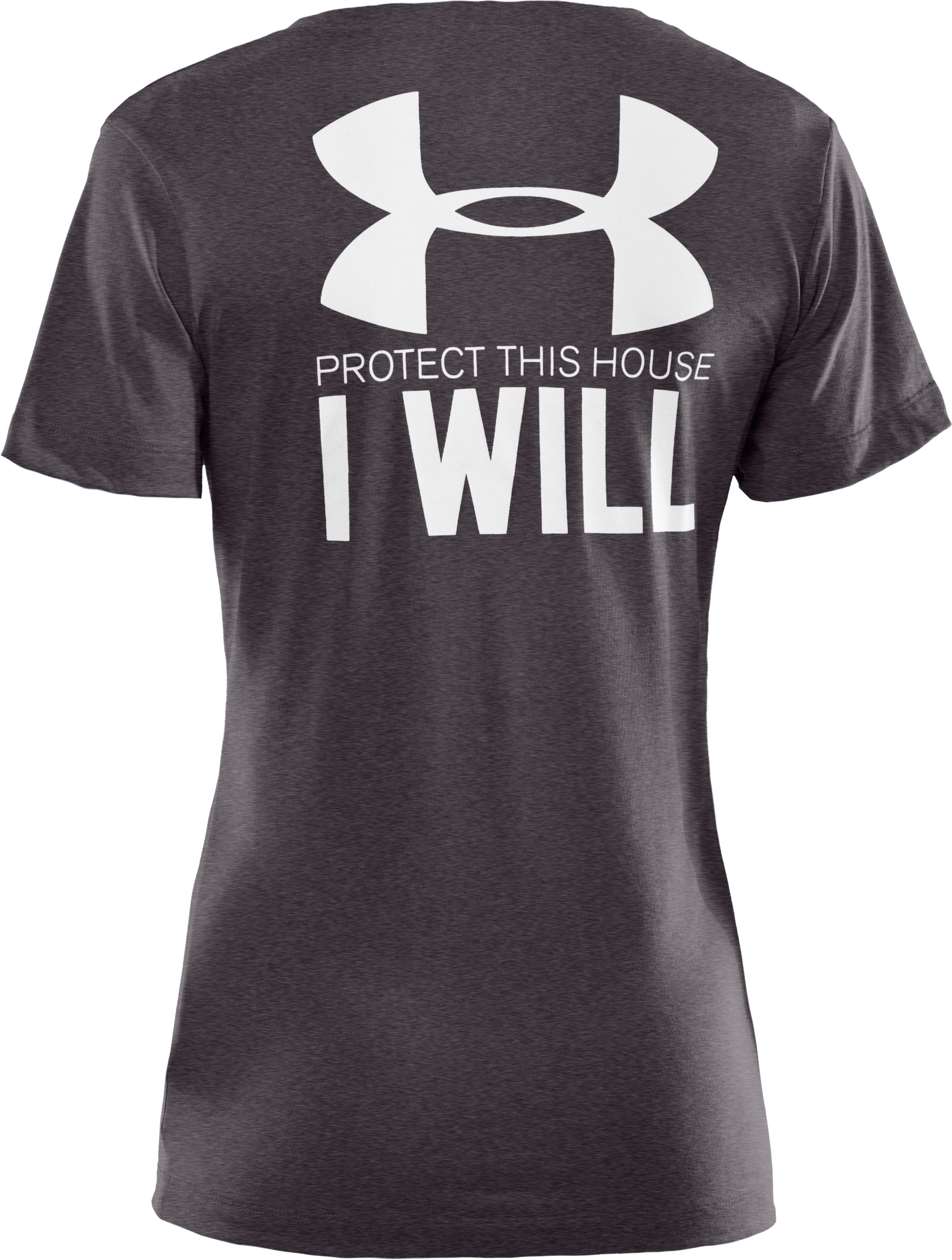 Women's UA PTH® I WILL® V-Neck, Carbon Heather,