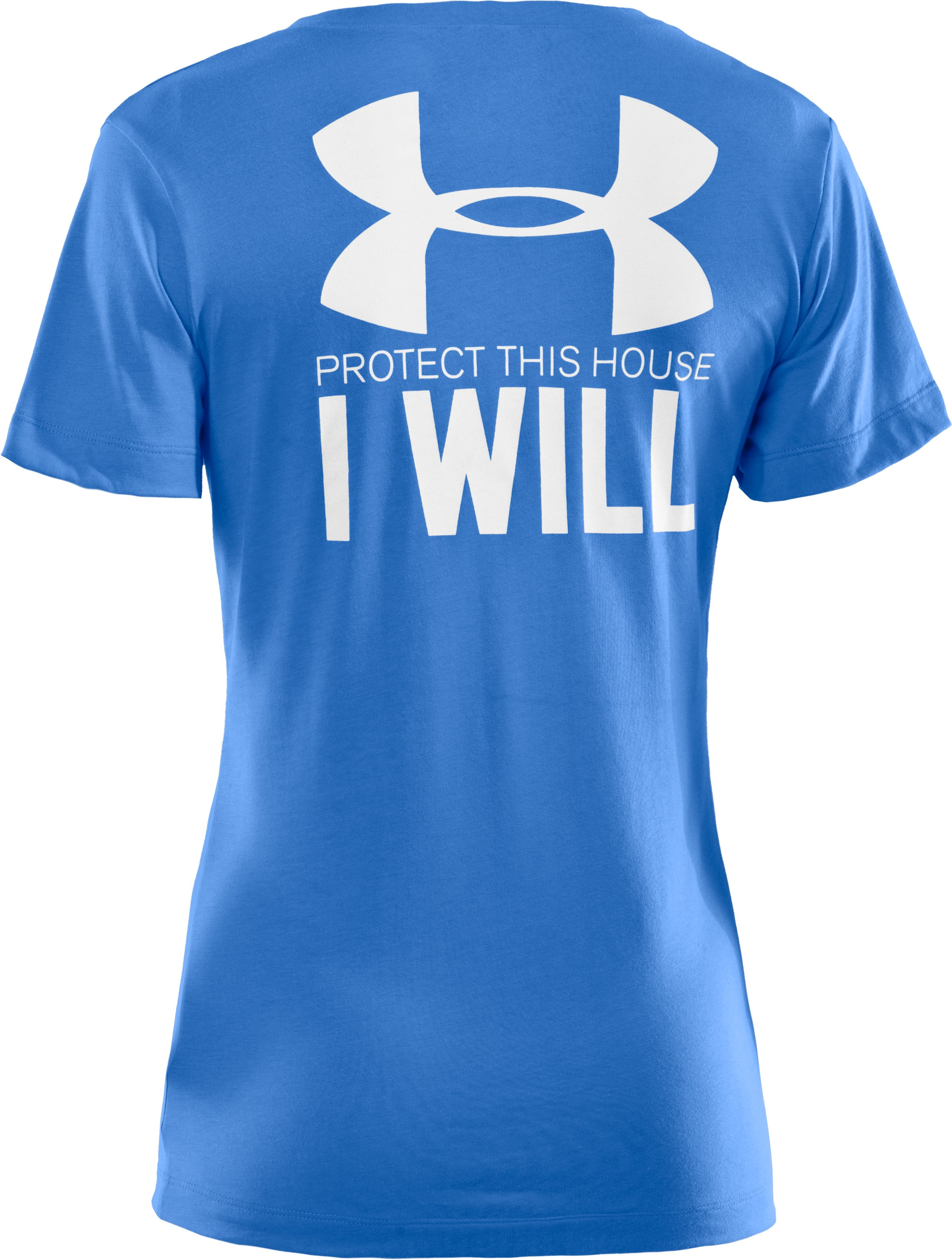 Women's UA PTH® I WILL® V-Neck, Water, undefined