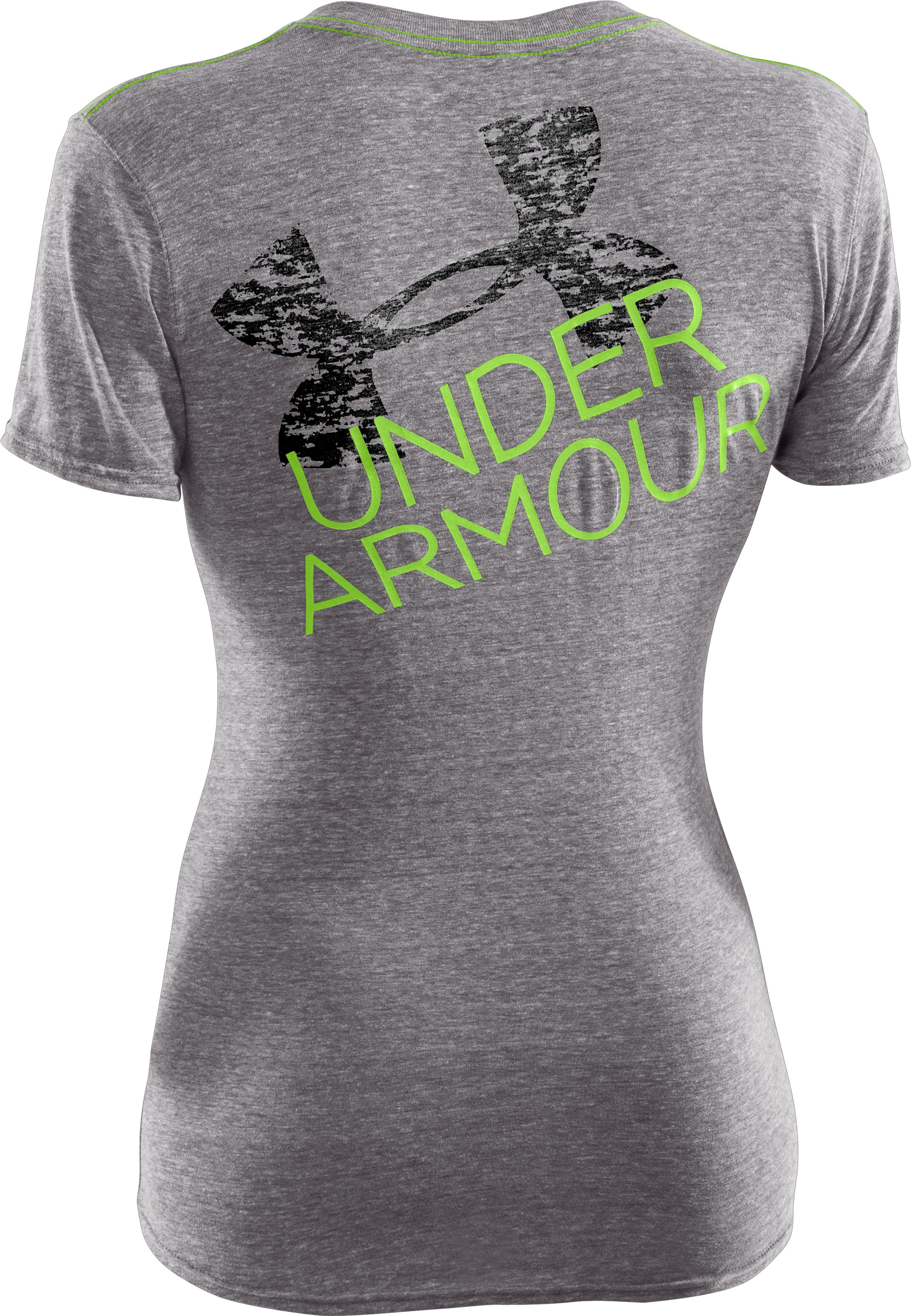 Women's UA Script Undeniable V-Neck, Charcoal