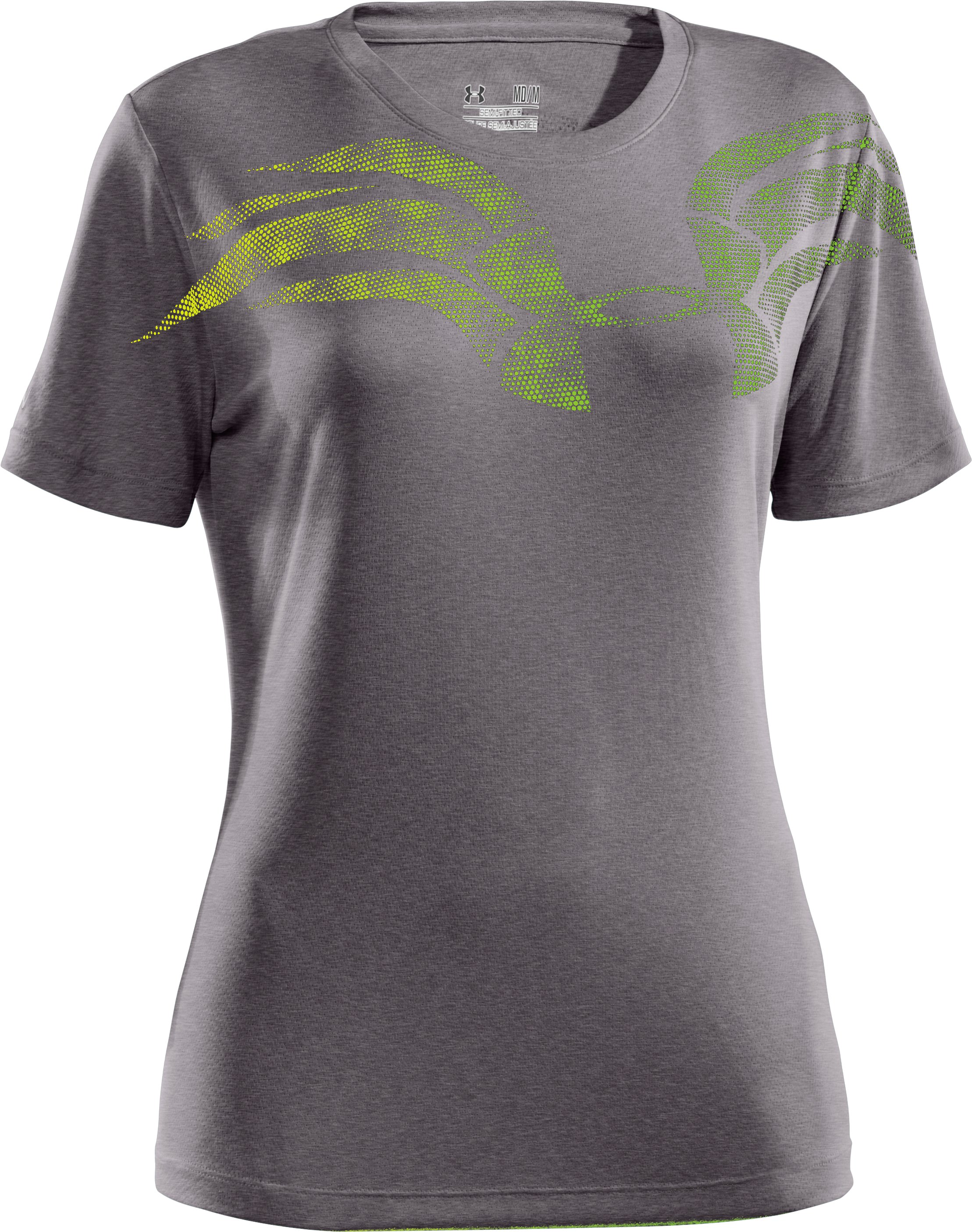 Women's UA We Run Mesh Short Sleeve, Carbon Heather