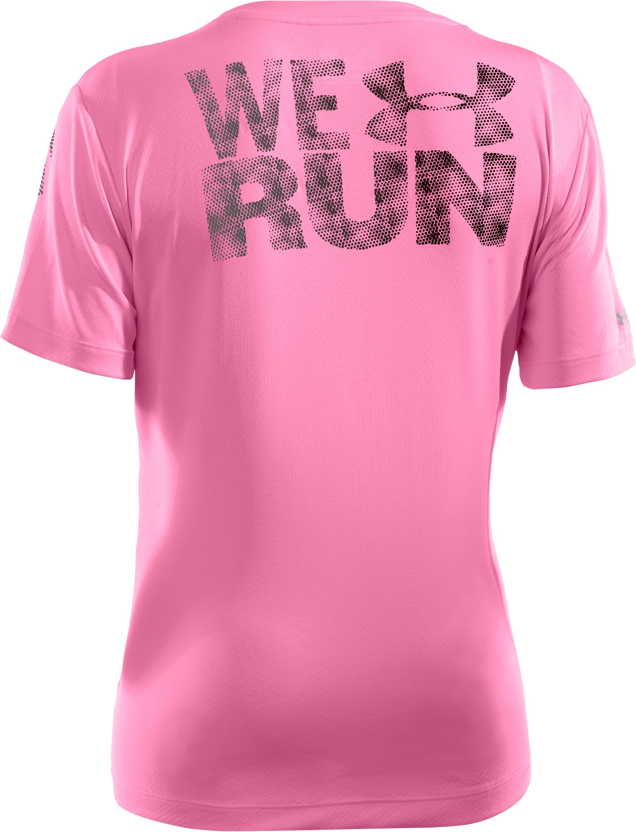 Women's UA We Run Mesh Short Sleeve, Fluo Pink