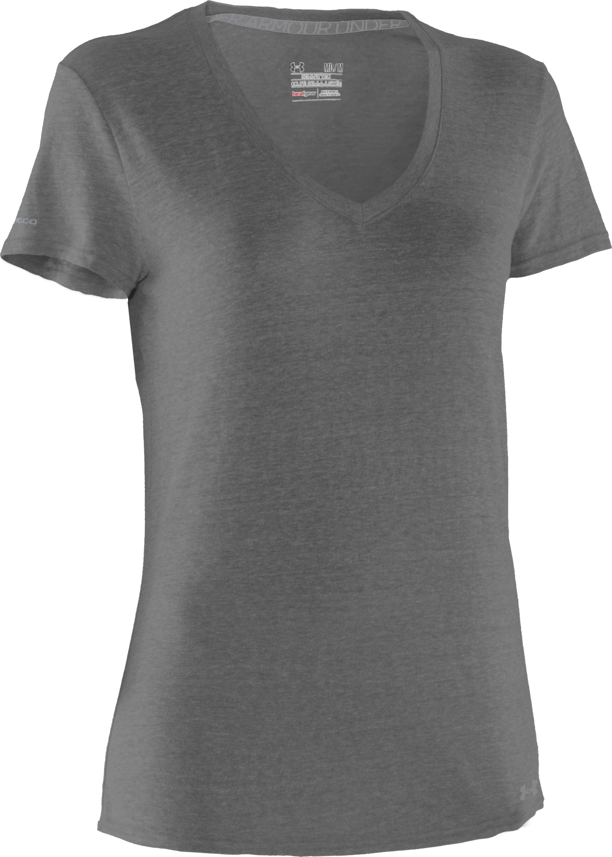 Women's Charged Cotton® Undeniable T-Shirt, Charcoal, undefined