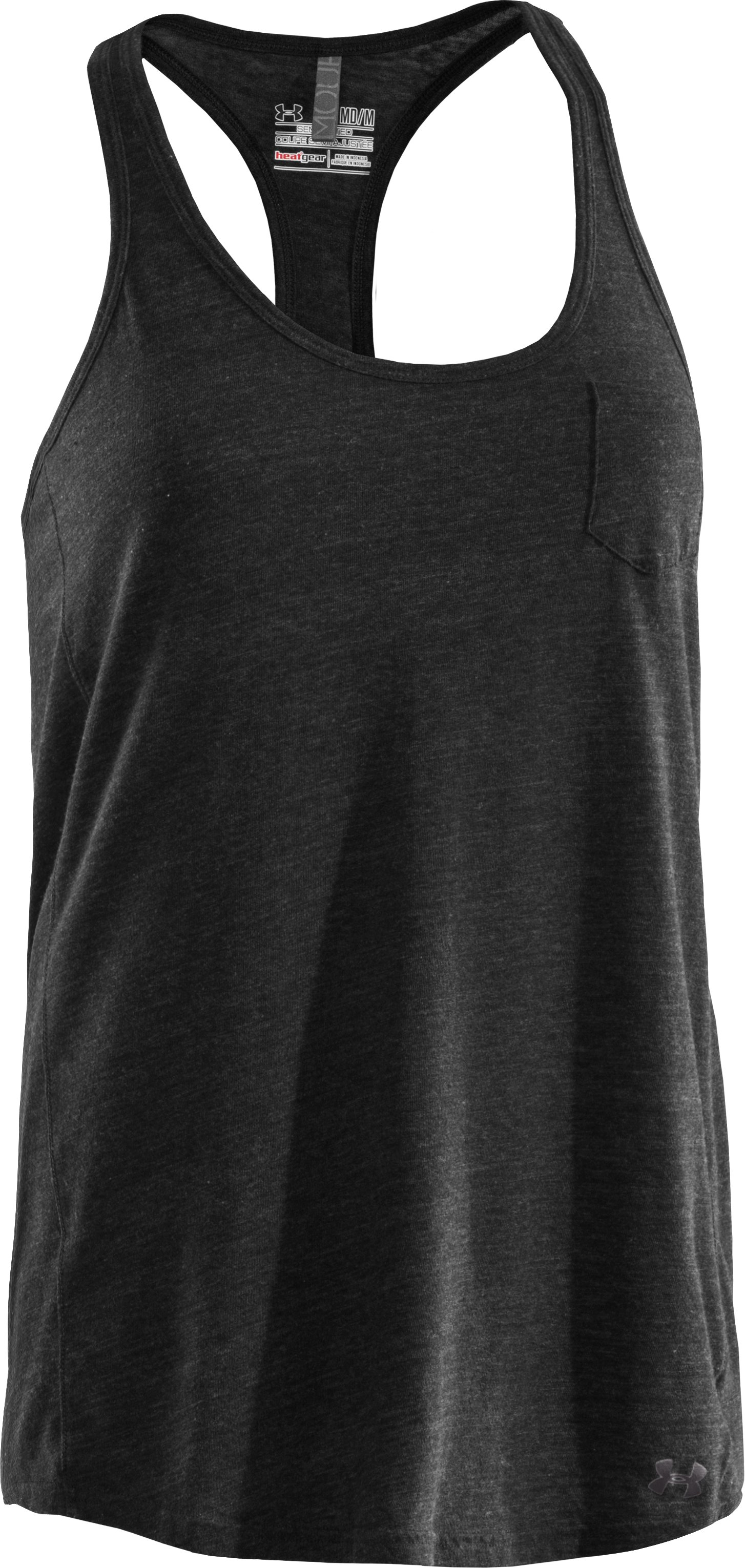 Women's Charged Cotton® Undeniable Tank, Black , undefined