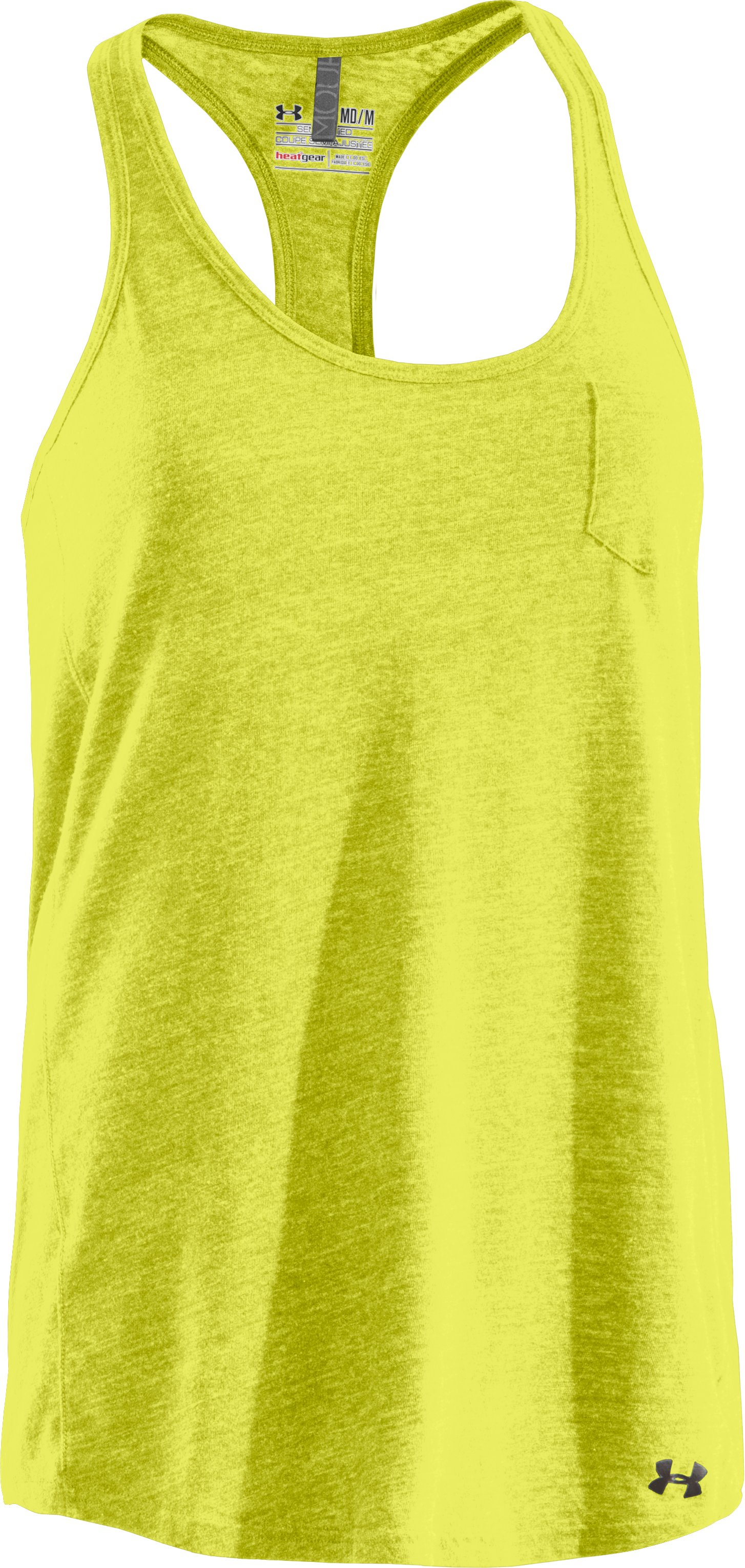 Women's Charged Cotton® Undeniable Tank, High-Vis Yellow, undefined