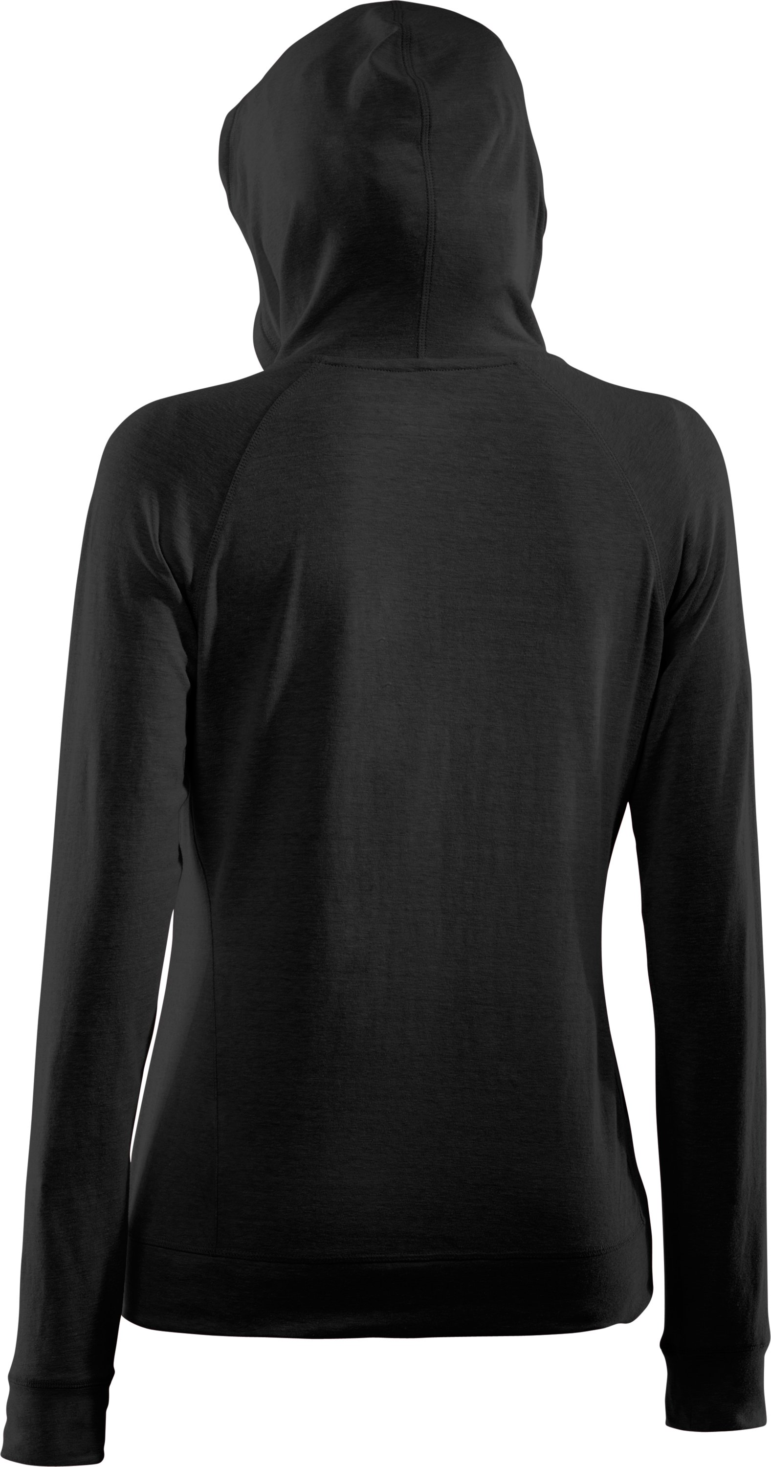 Women's Charged Cotton® Full Zip Hoodie, Black , undefined