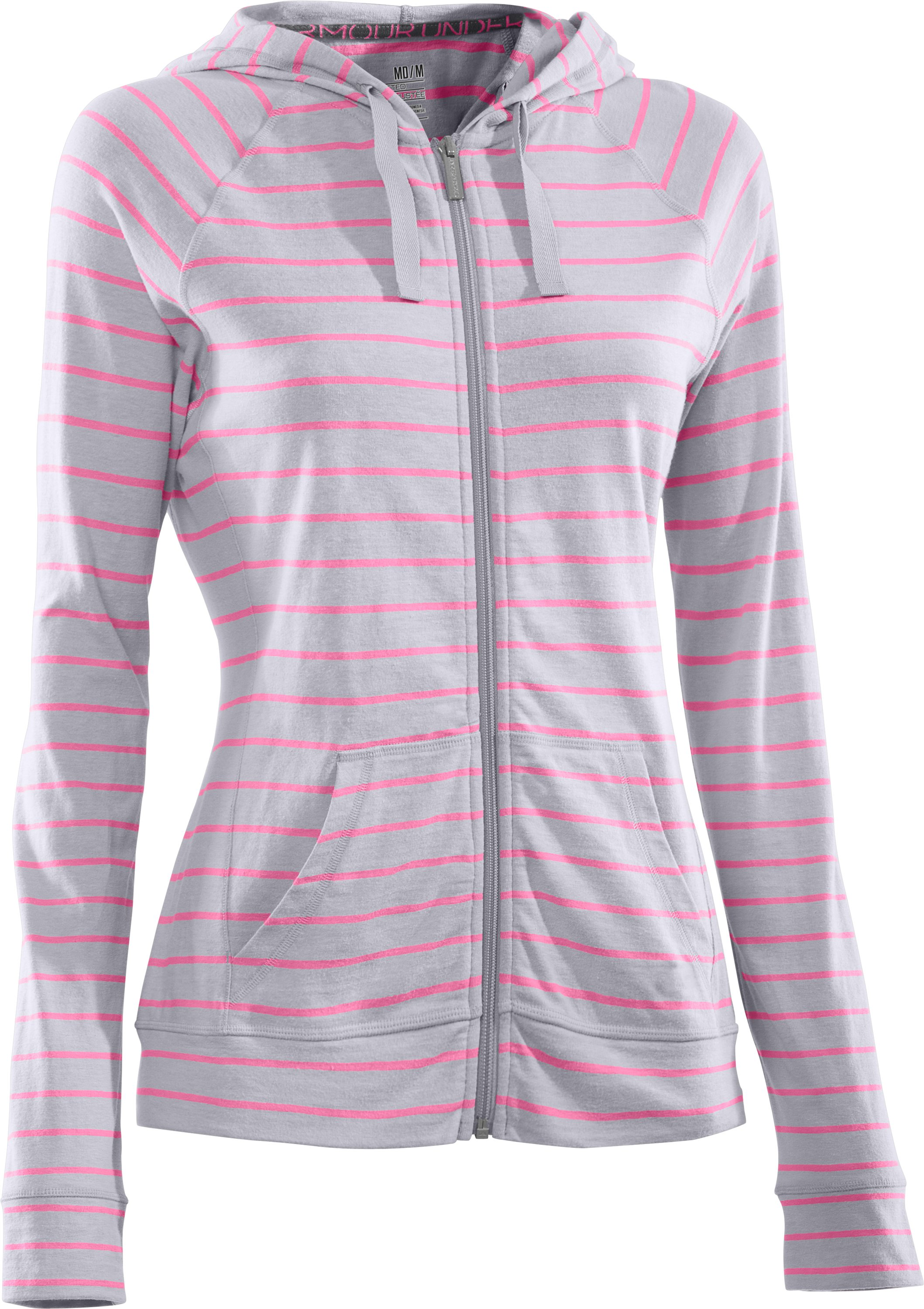 Women's Charged Cotton® Full Zip Hoodie, Aluminum