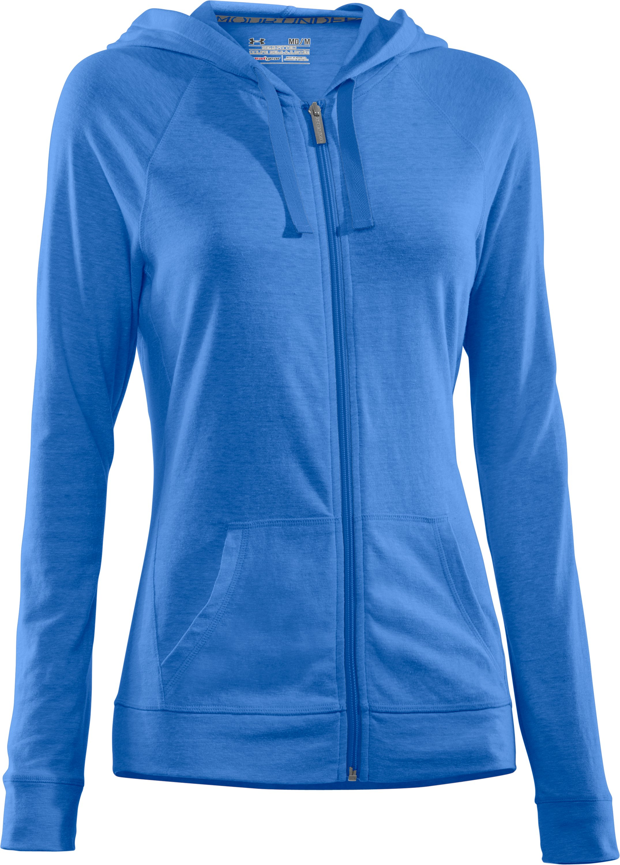 Women's Charged Cotton® Full Zip Hoodie, Water