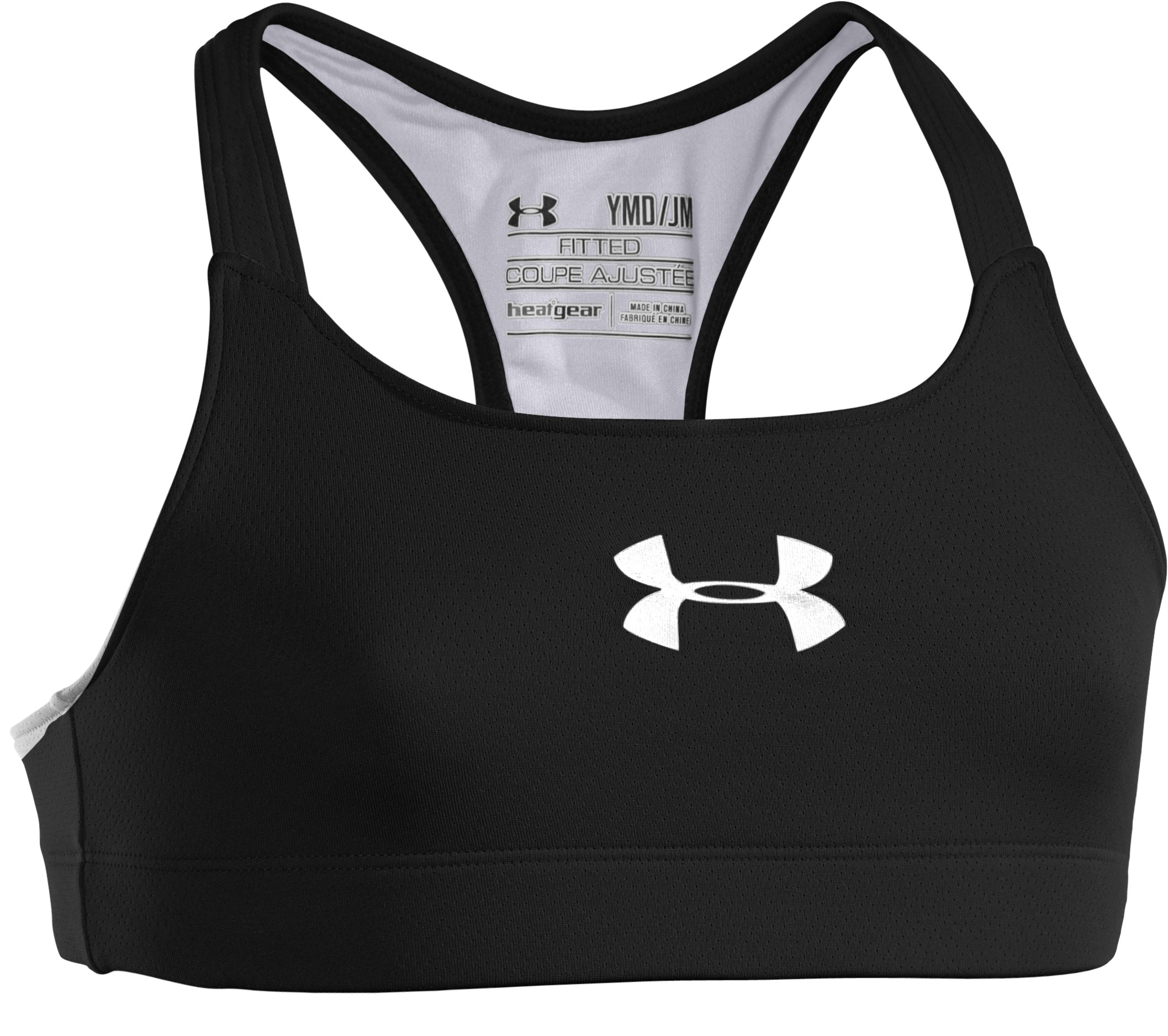 Girls' UA Dazzle Bra, Black , undefined