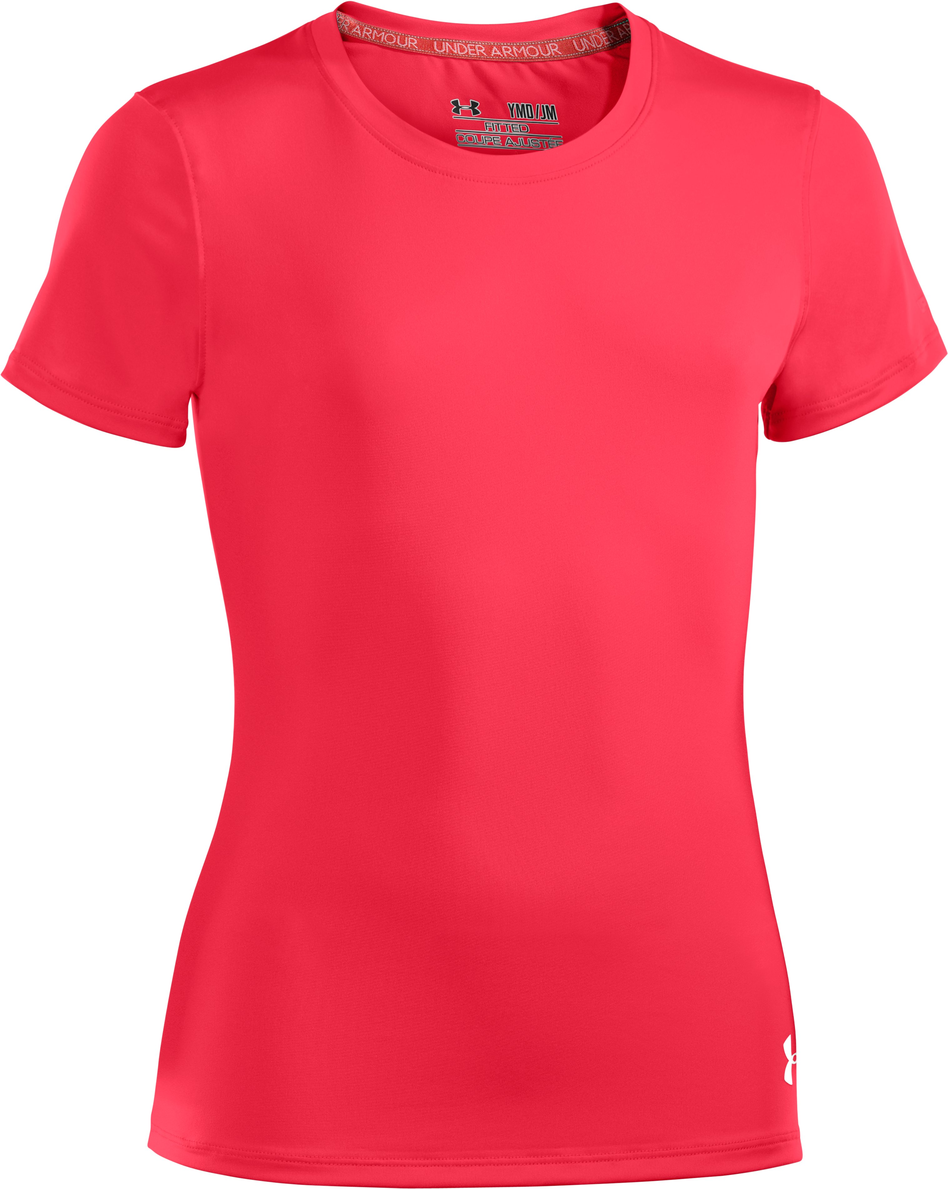 Girls' HeatGear® Sonic Short Sleeve, Power, zoomed image