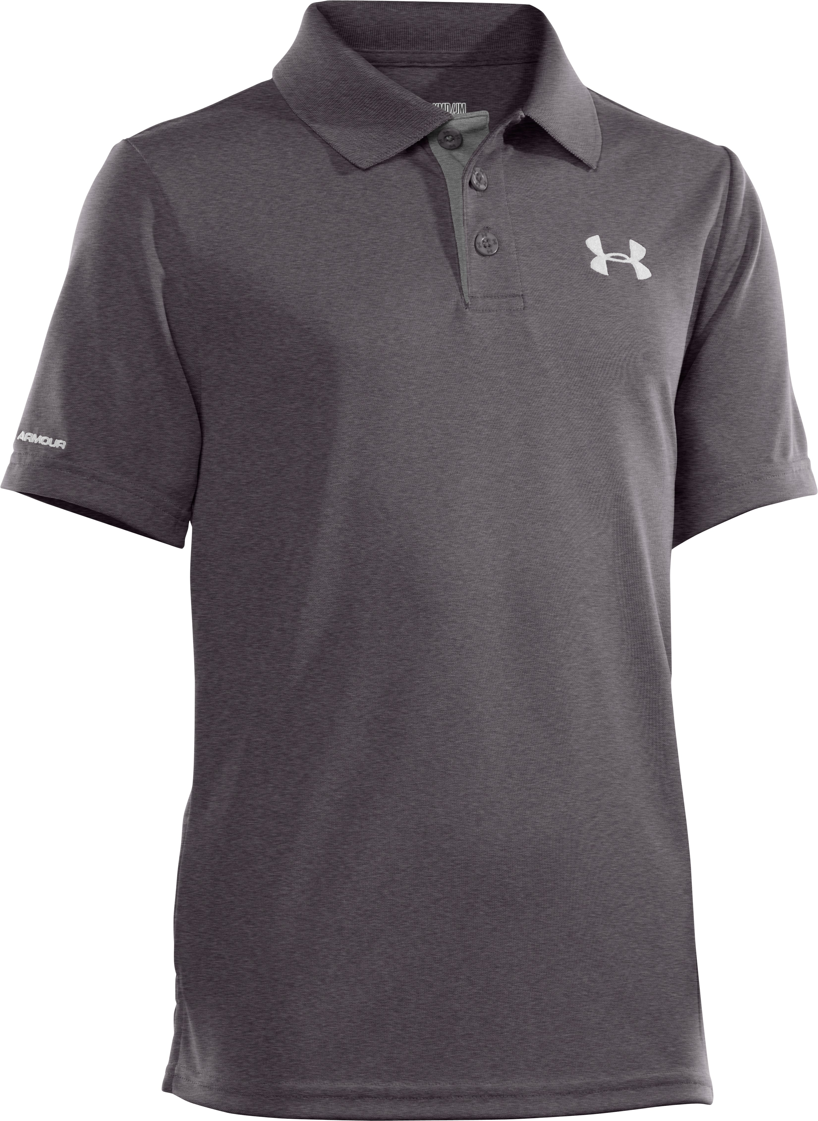 Boys' UA Match Play Polo, Carbon Heather
