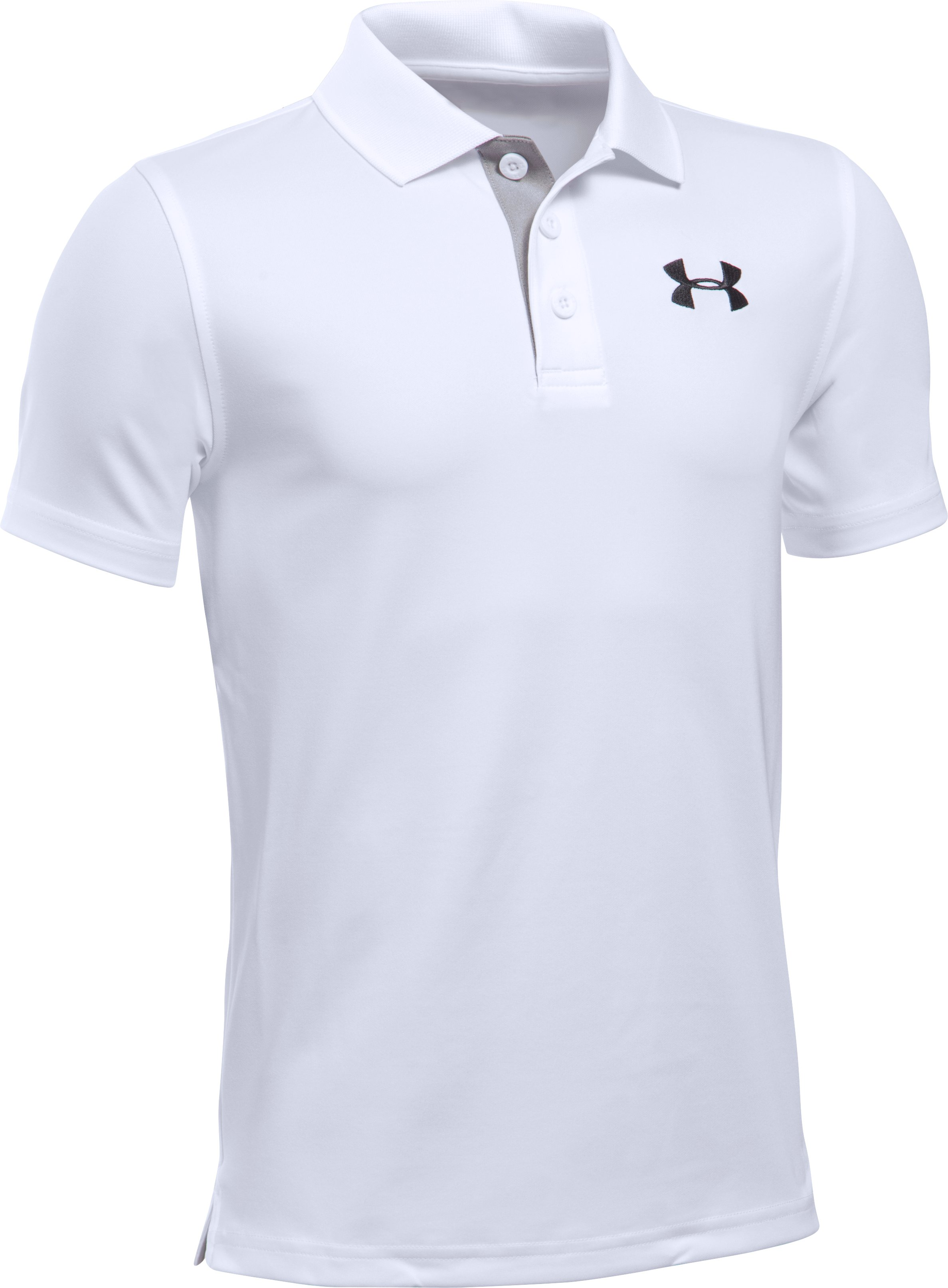 Boys' UA Match Play Polo, White, undefined