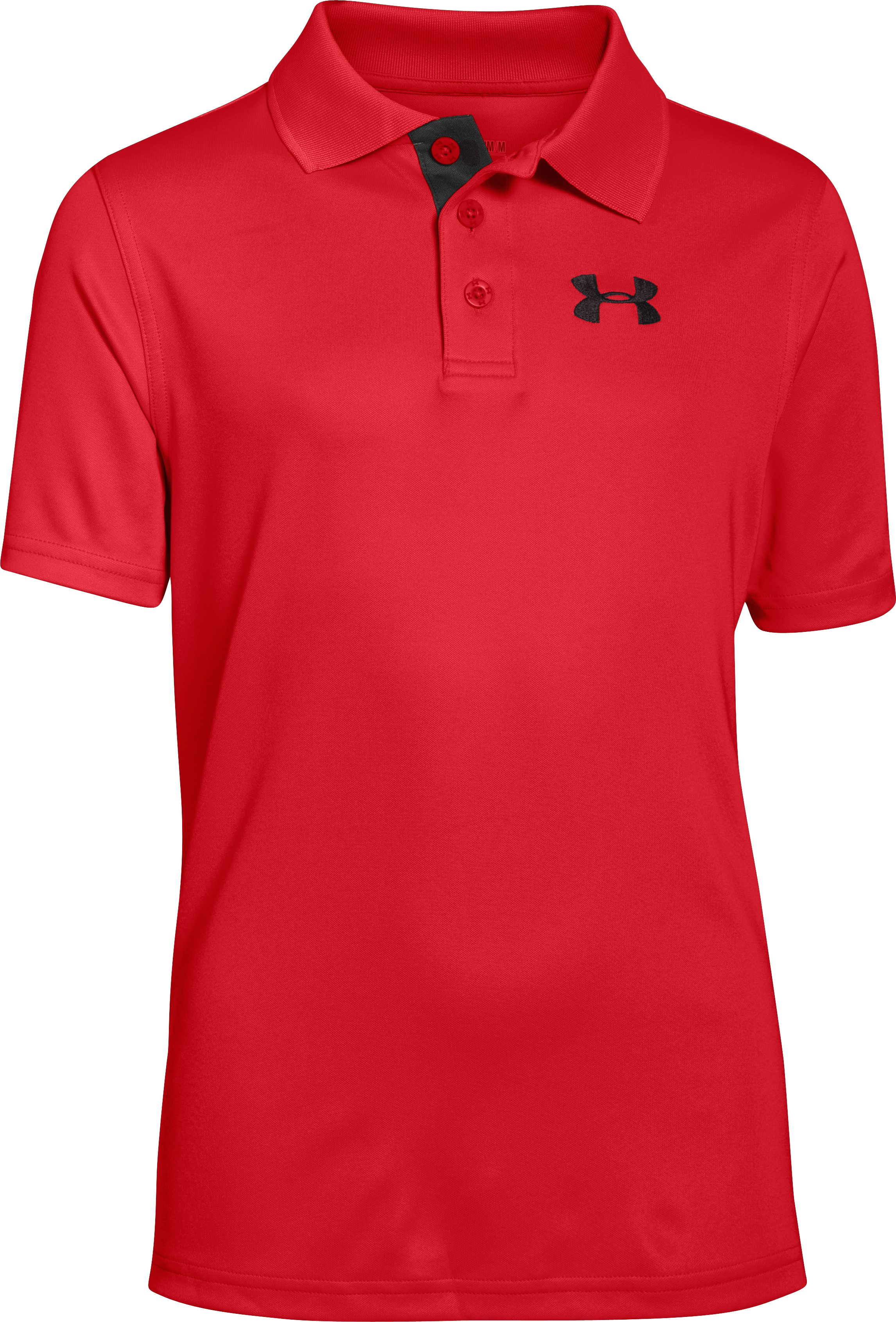 Boys' UA Match Play Polo, RISK RED, zoomed image