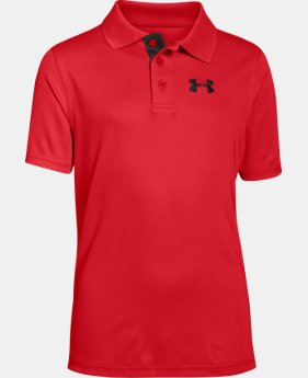 Boys' UA Match Play Polo LIMITED TIME: FREE SHIPPING 10 Colors $34.99