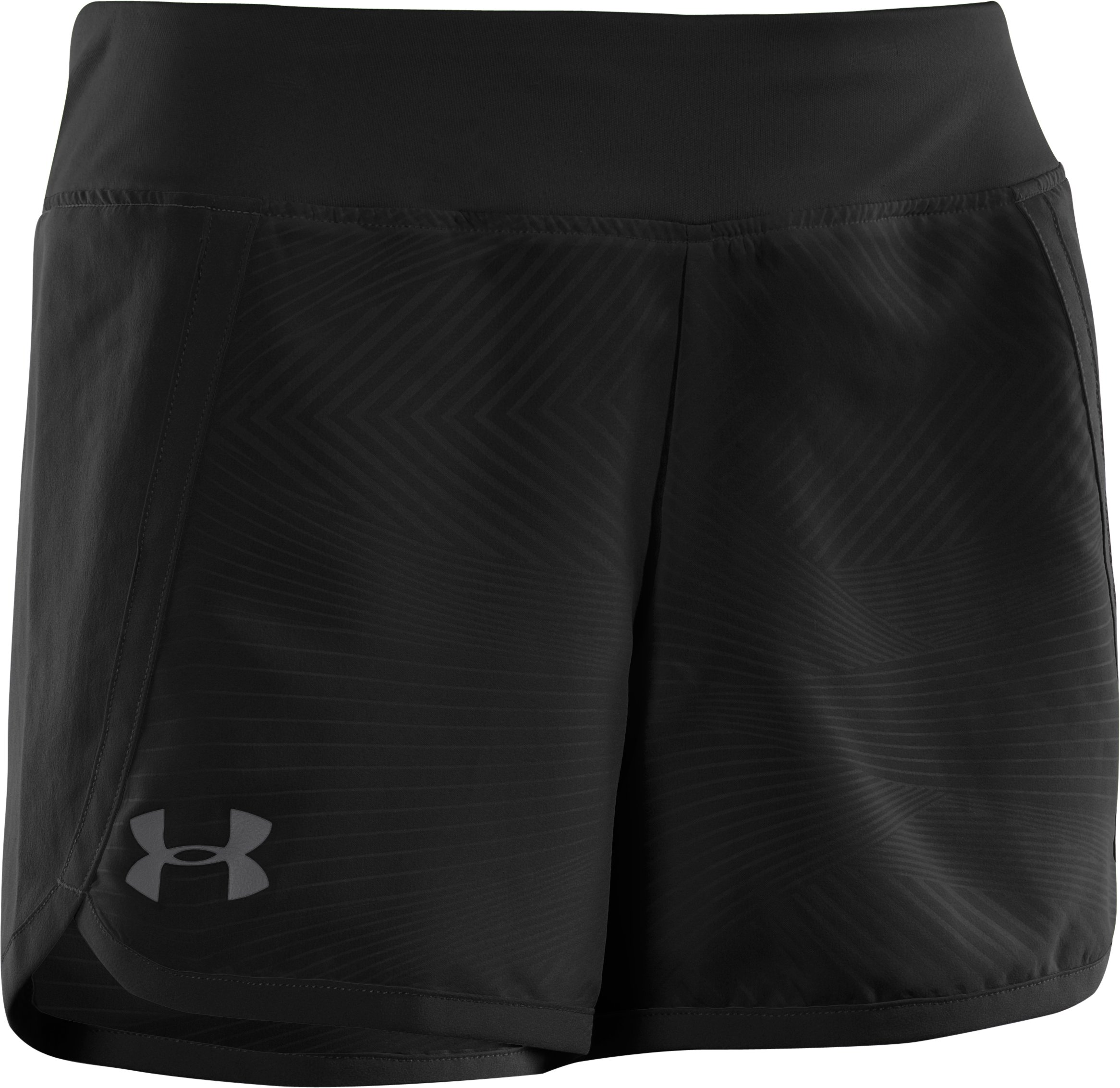 "Girls' UA Ripping 3"" Shorts, Black , zoomed image"