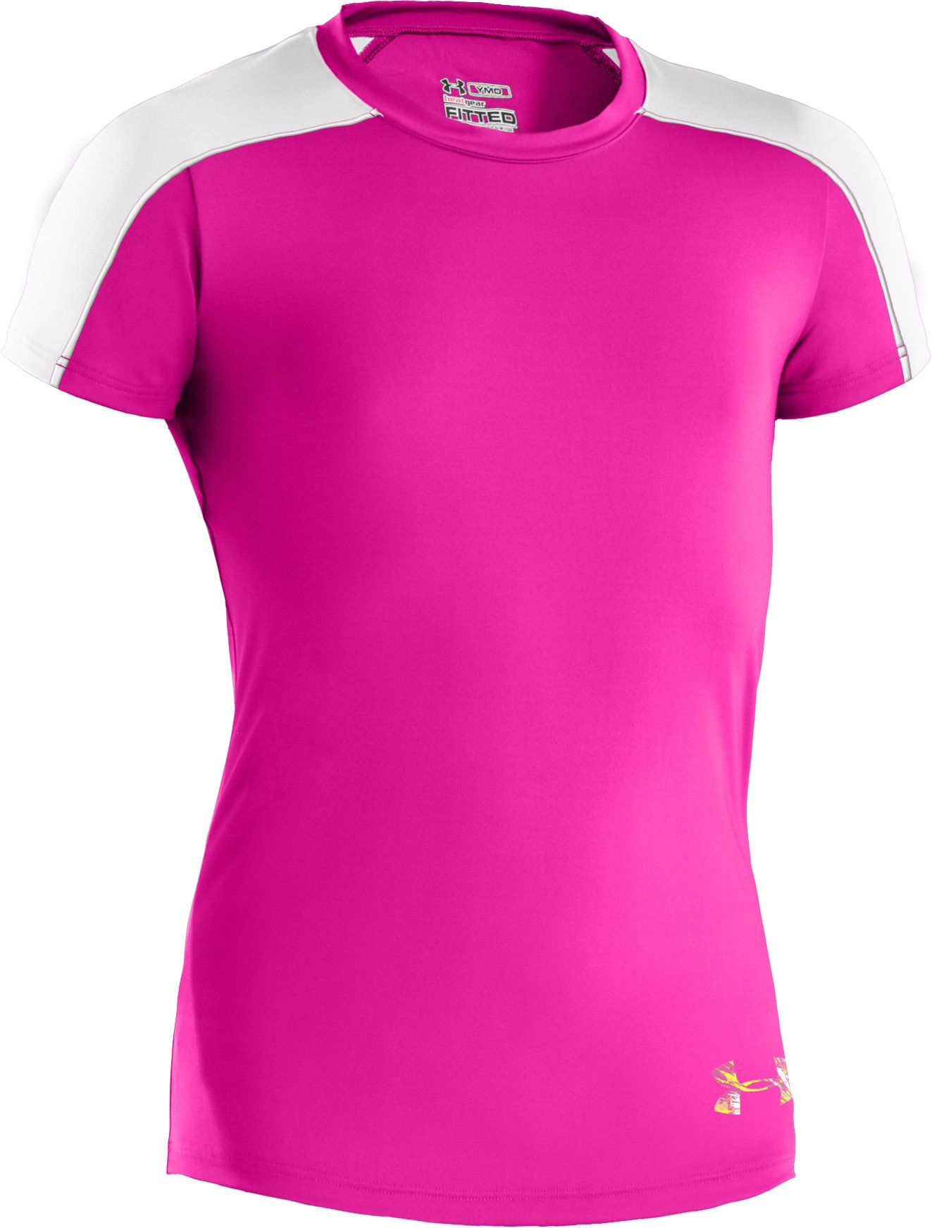 Girls' UA Dazzle T-Shirt, Tropic Pink, zoomed image