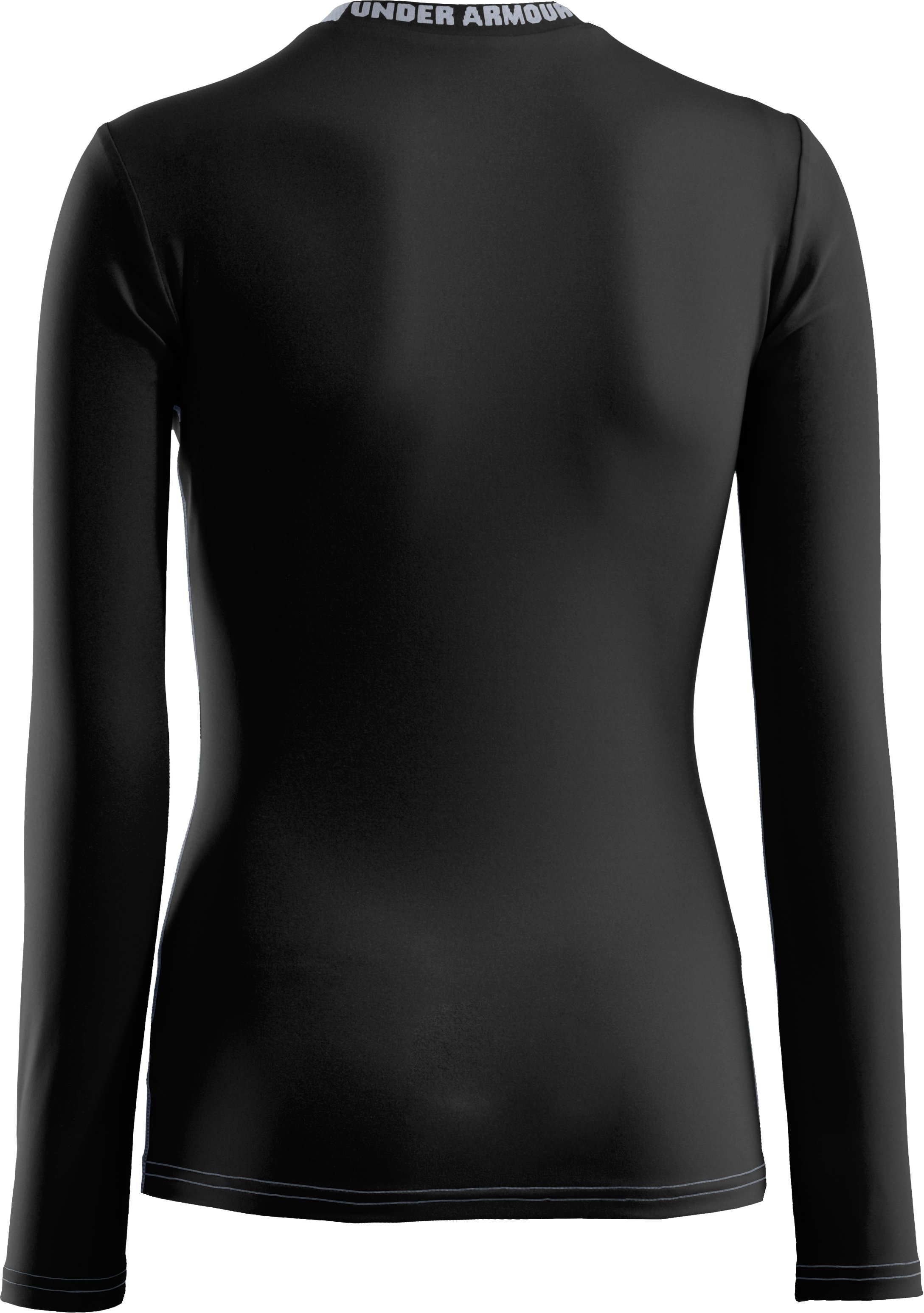 Boys' HeatGear® Sonic Fitted Long Sleeve, Black