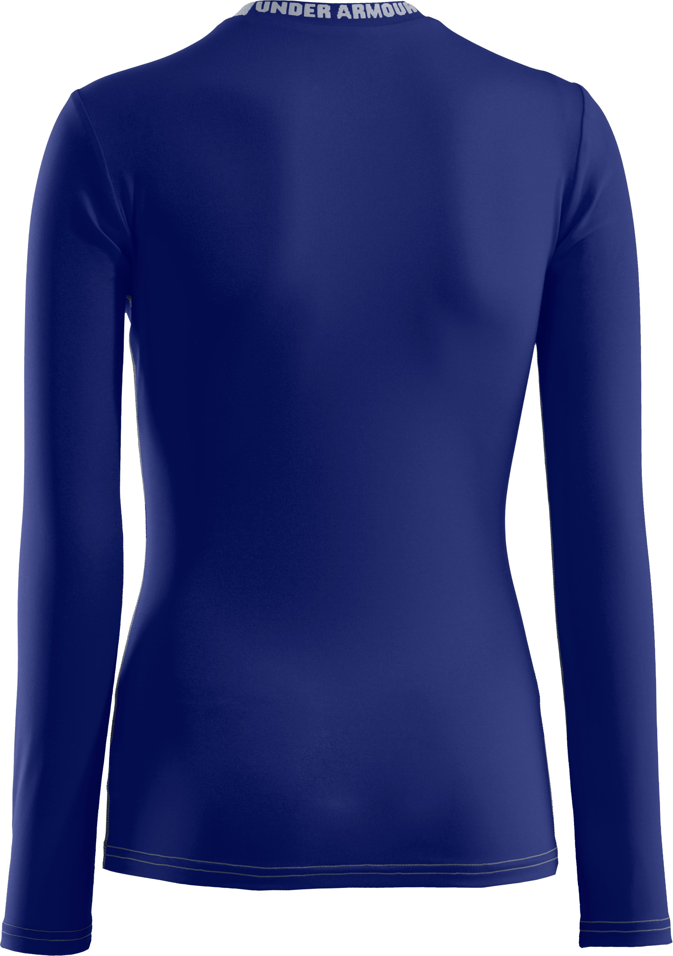 Boys' HeatGear® Sonic Fitted Long Sleeve, Royal, undefined