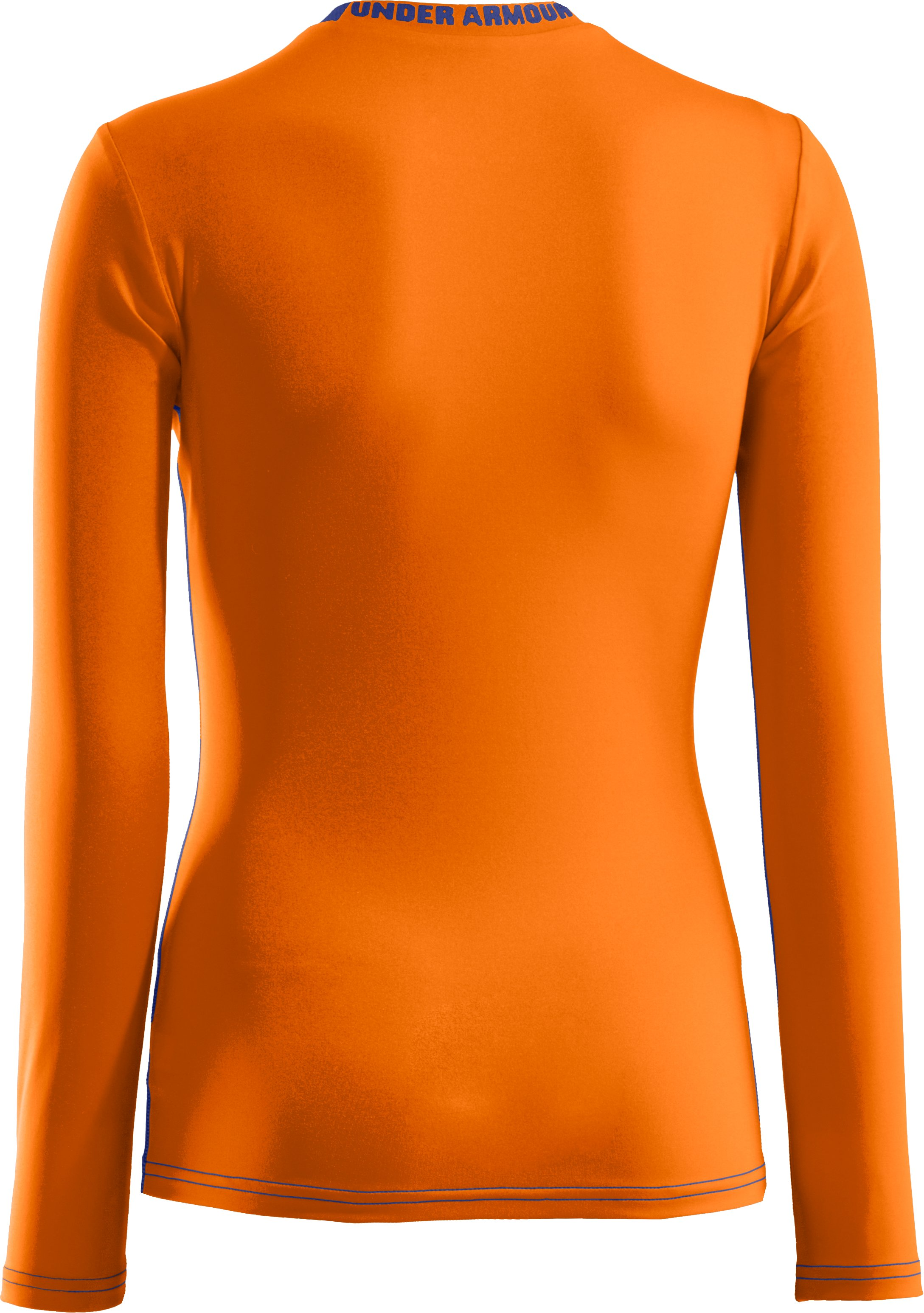 Boys' HeatGear® Sonic Fitted Long Sleeve, Blaze Orange