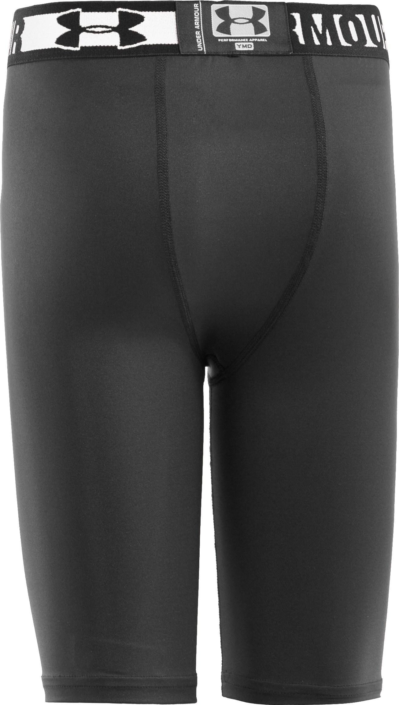 "Boys' HeatGear® Sonic 7"" Fitted Shorts, Black"
