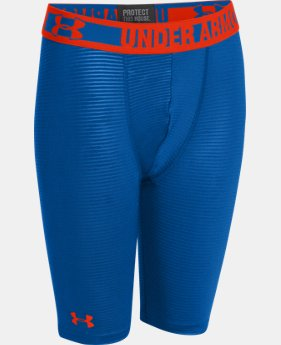 "Boys' HeatGear® Sonic 7"" Fitted Shorts   $14.99 to $18.99"