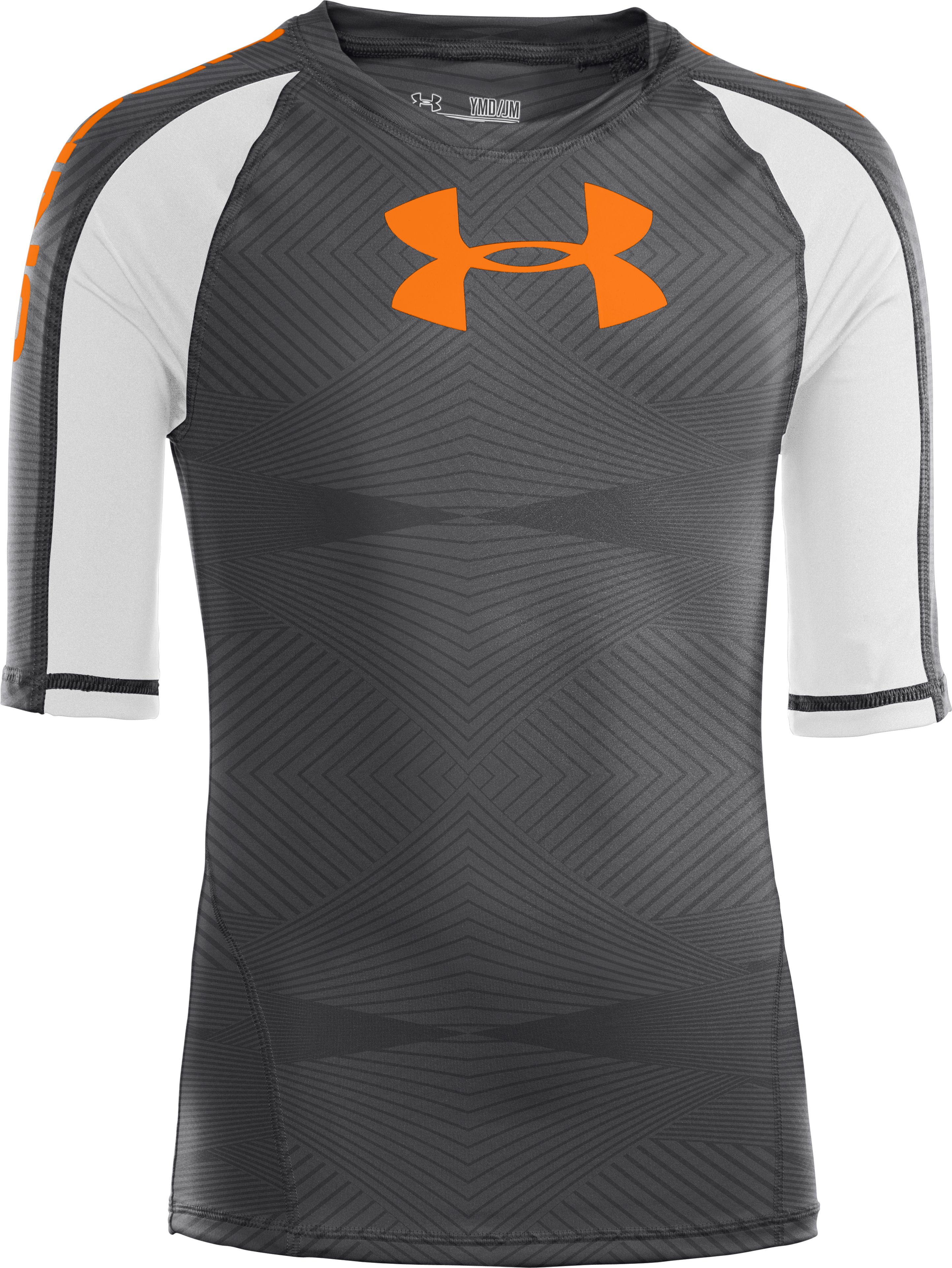 Boys' UA Ripping Water-Activated Short Sleeve, Graphite