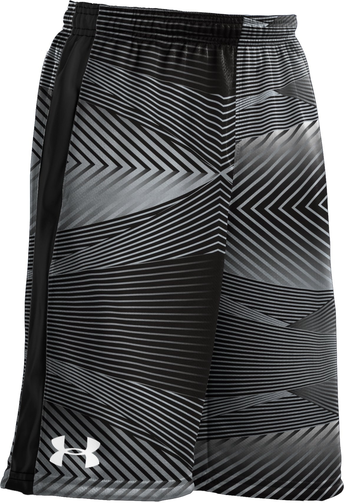 "Boys' UA Ultimate Printed 9"" Shorts, Black , zoomed image"