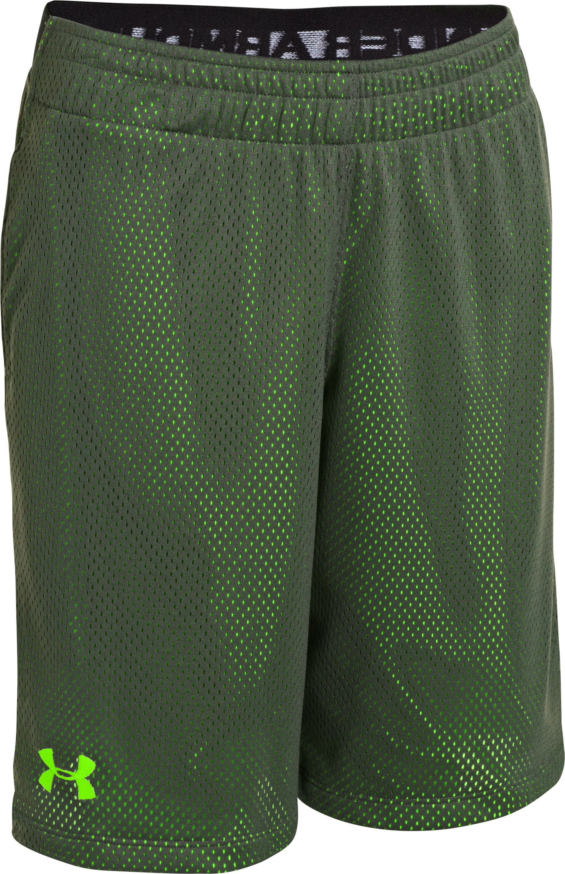 "Boys' UA Renegade 9"" Shorts, Steel, zoomed image"