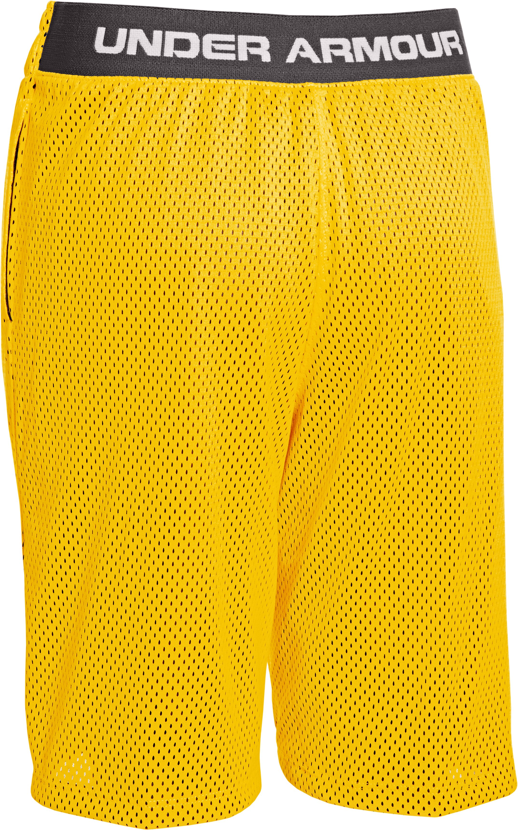 "Boys' UA Renegade 9"" Shorts, School Bus, undefined"
