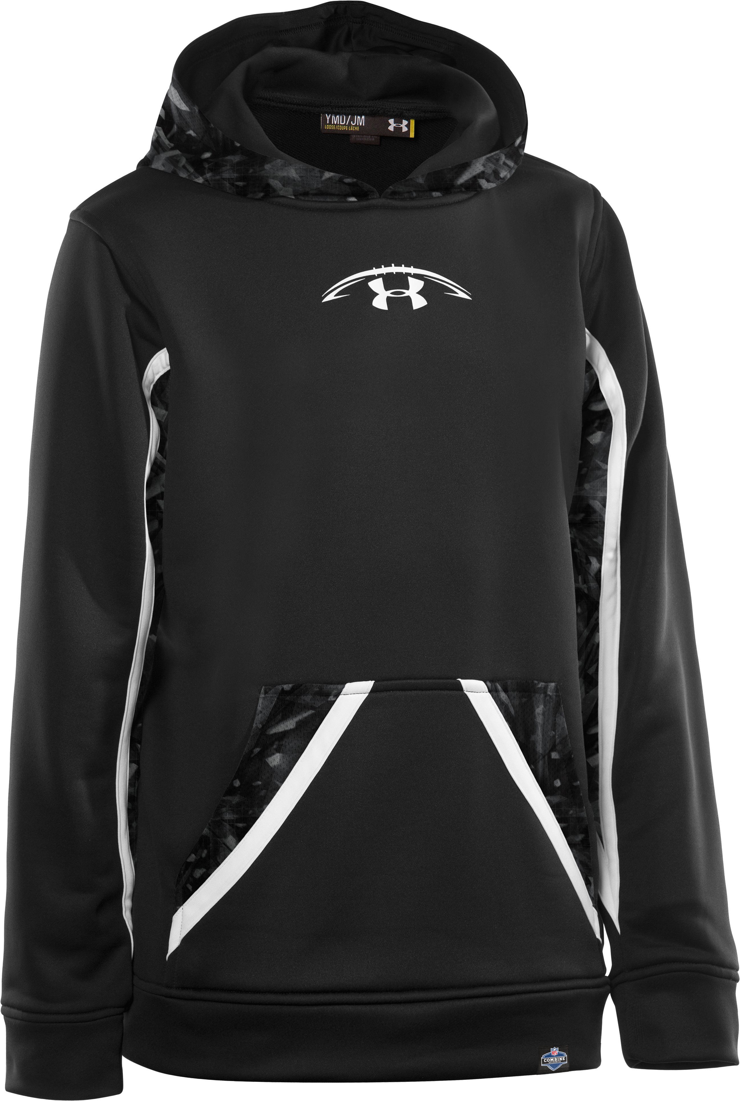 Boys' NFL Combine Authentic Hoodie, Black , zoomed image