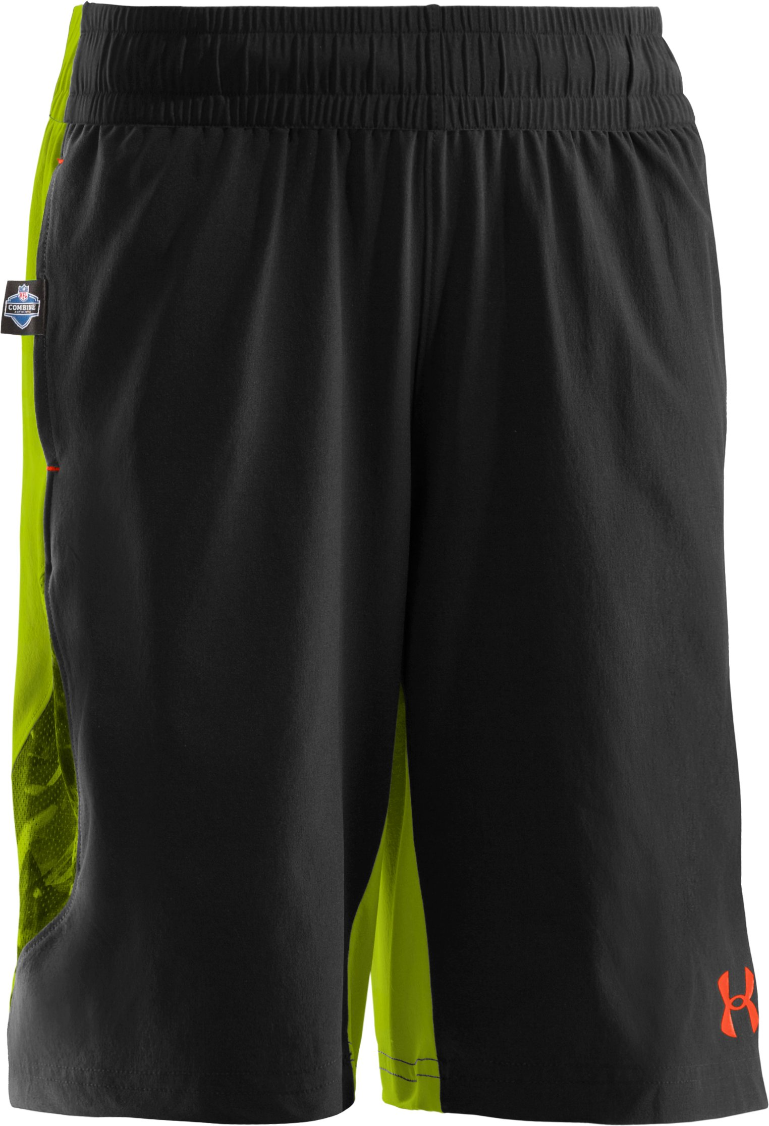 Boys' NFL Combine Authentic Shorts, Black , zoomed image