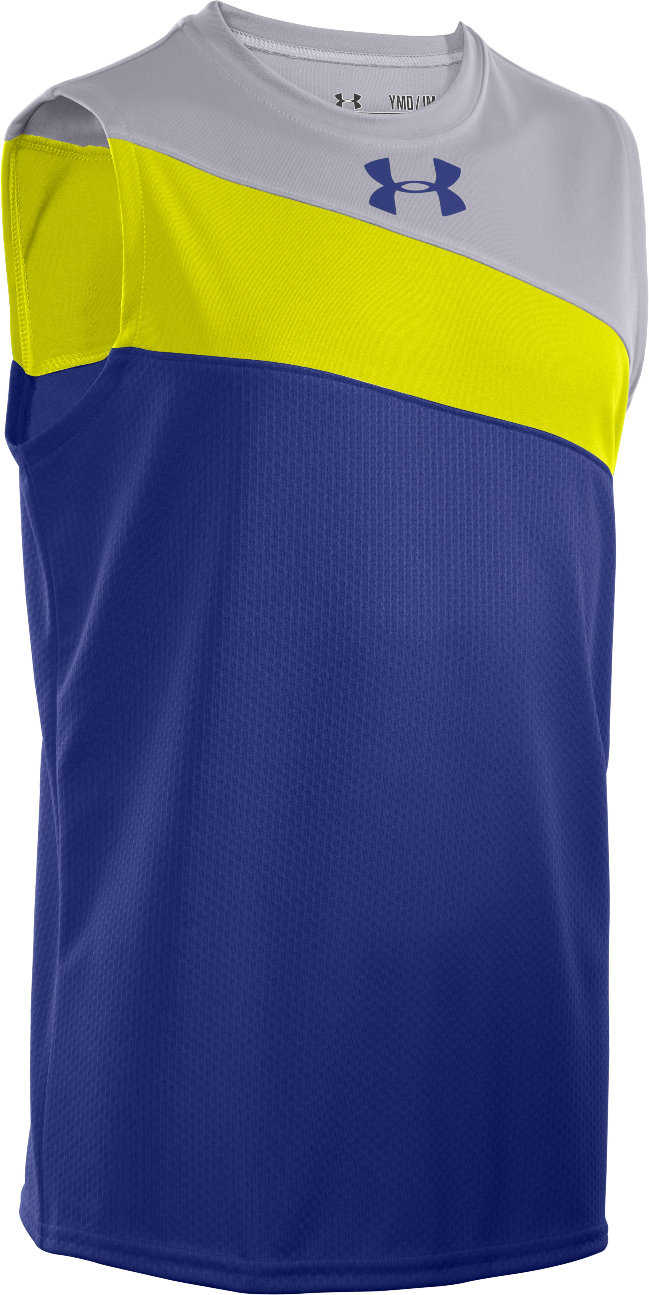Boys' UA Influencer Sleeveless, Royal, zoomed image