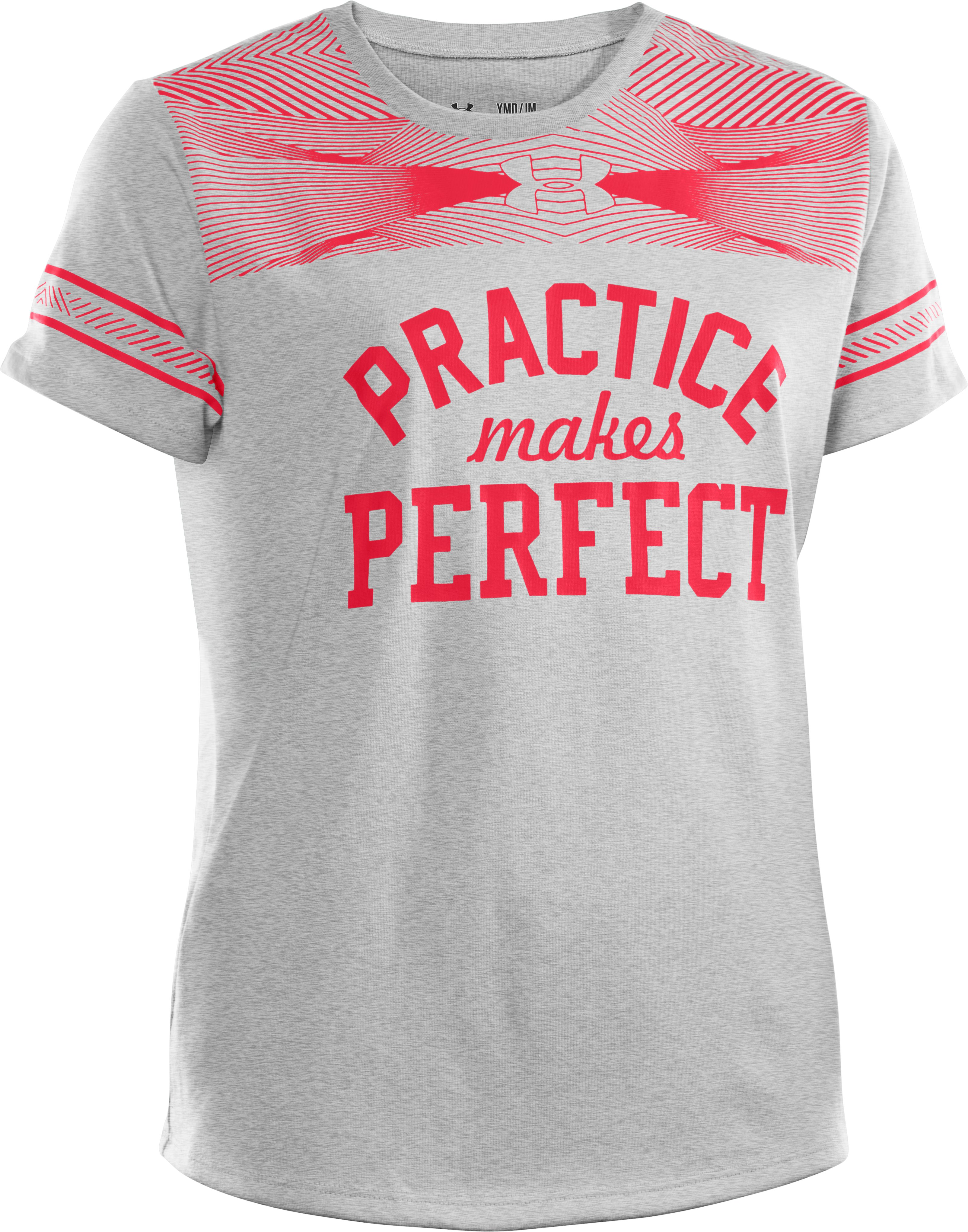 Girls' UA Practice Perfect Graphic T-Shirt, Silver Heather