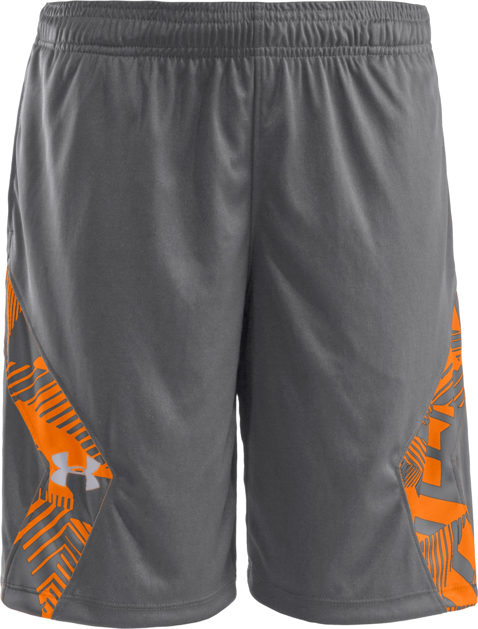 Boys' UA Domineer Shorts, Graphite, zoomed image