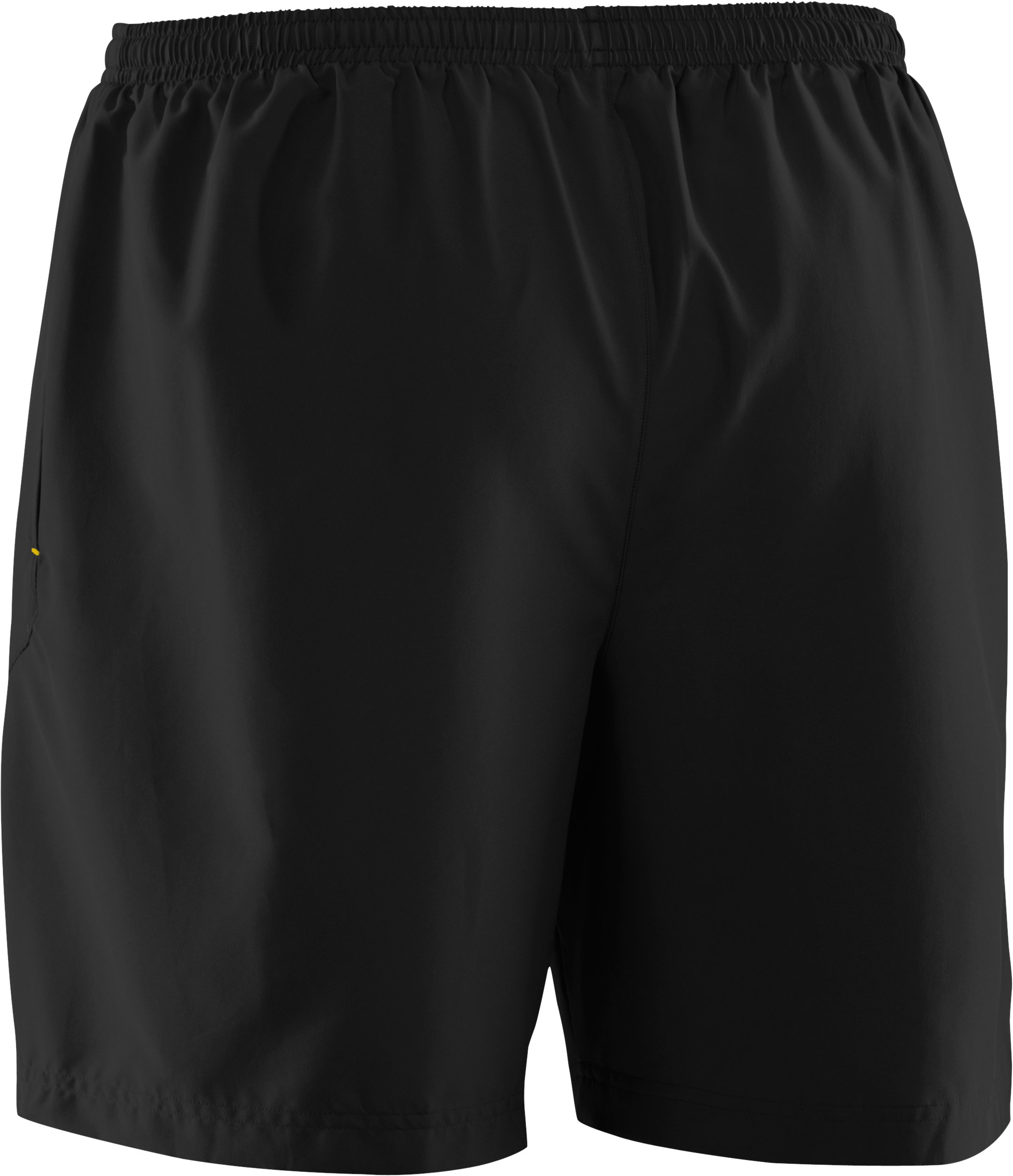 "Men's UA Escape 7"" Solid Run Shorts, Black"