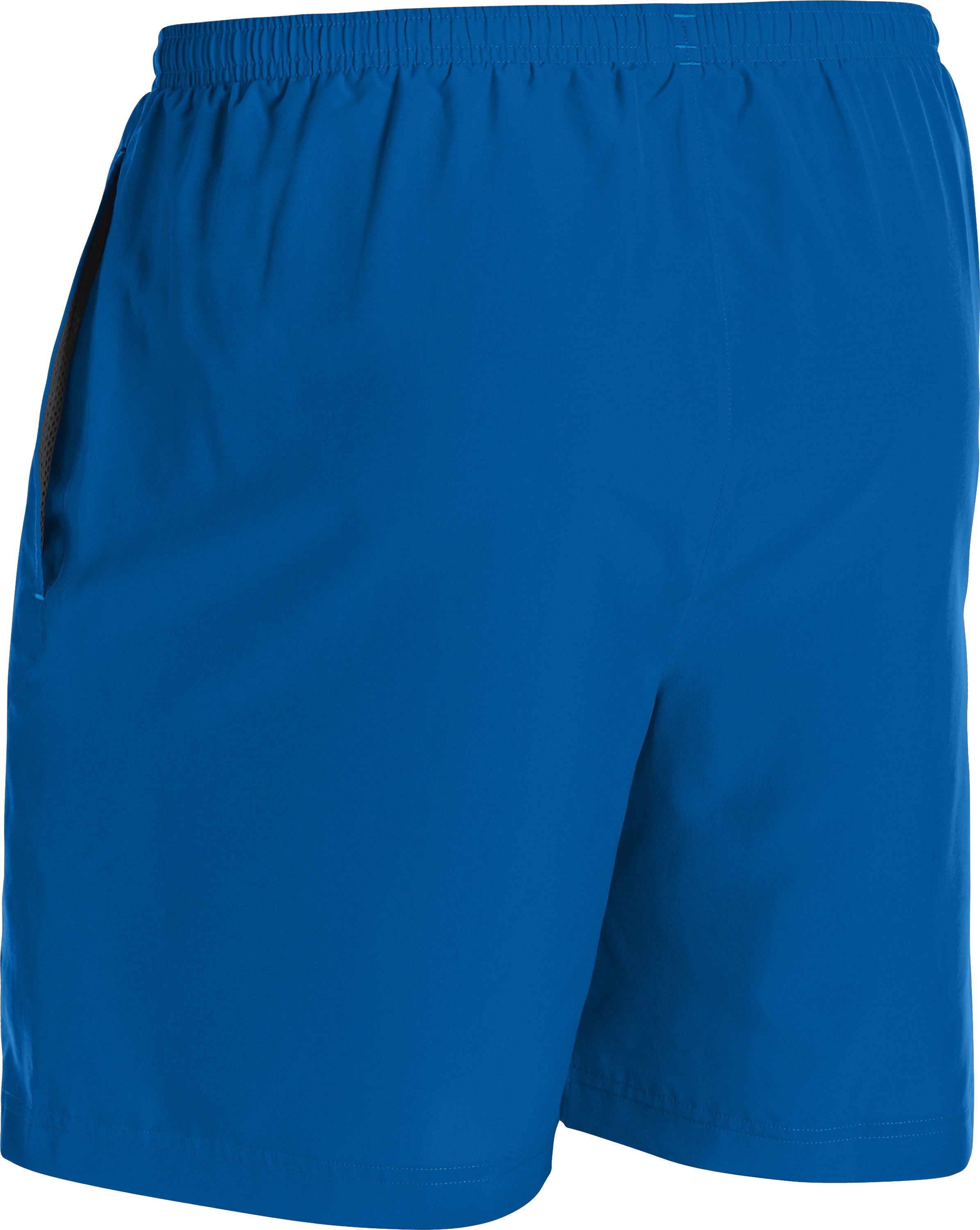 "Men's UA Escape 7"" Solid Run Shorts, SUPERIOR BLUE"