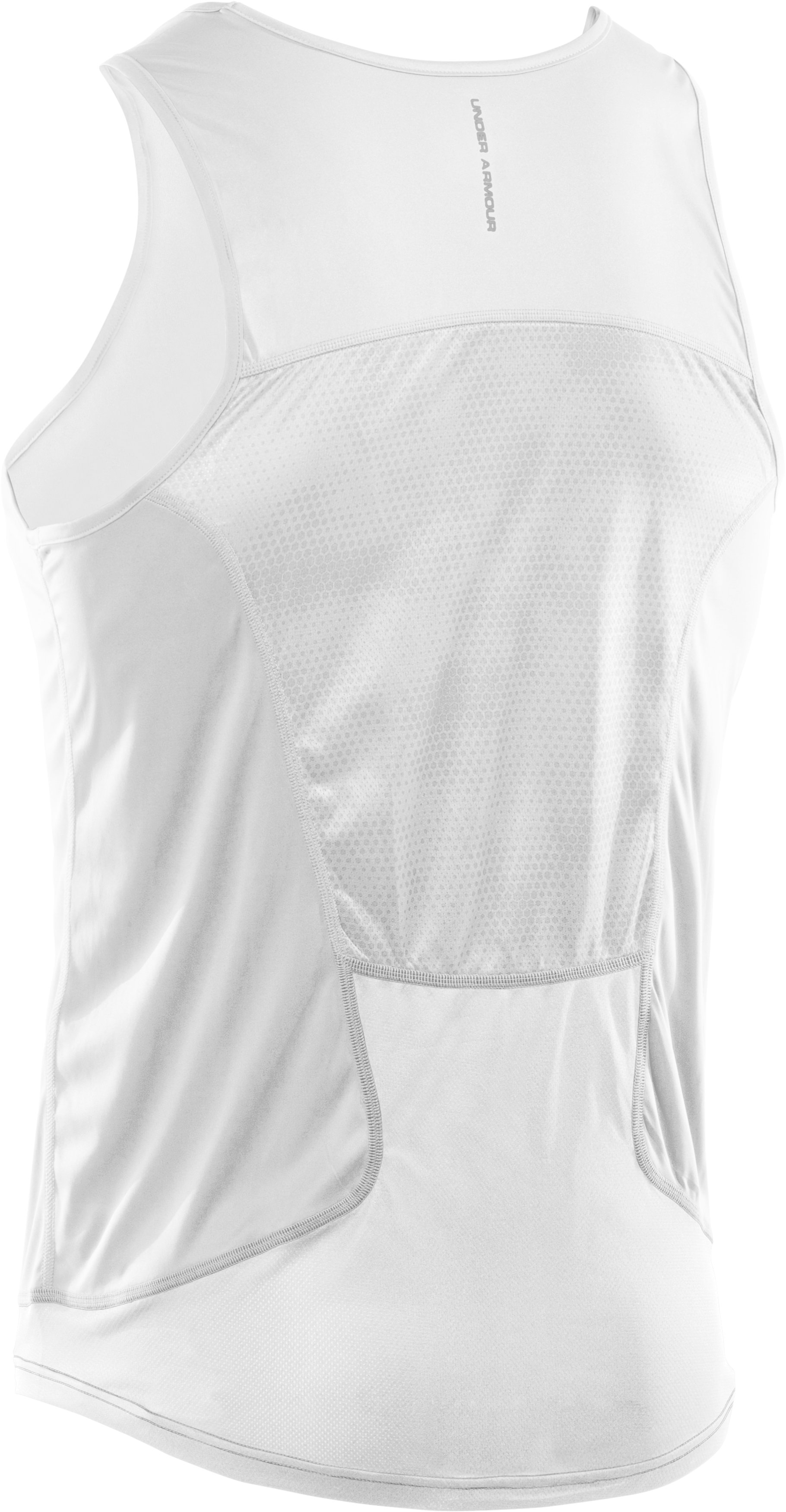 Men's HeatGear® Flyweight Run Singlet, White