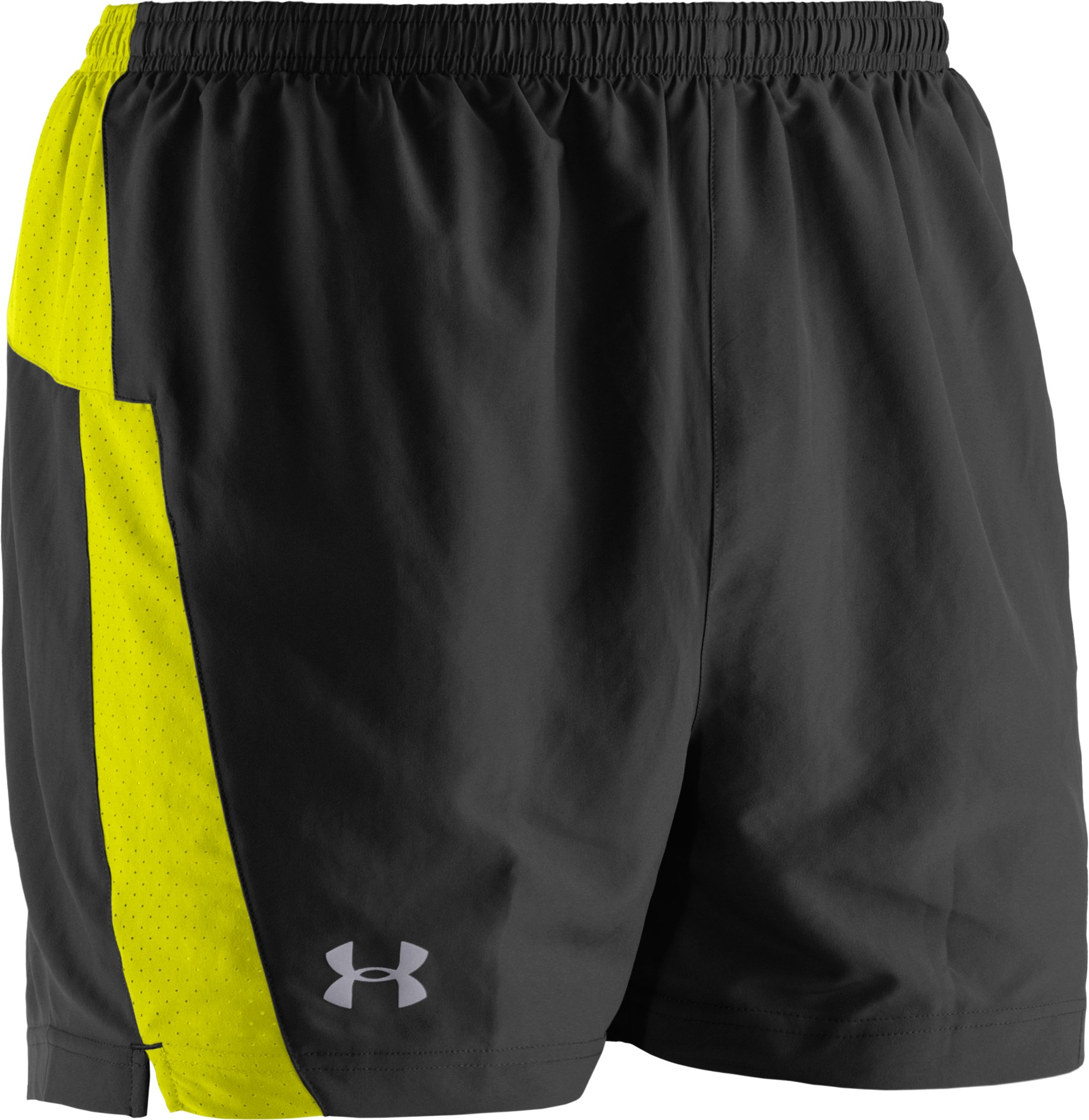 Men's UA HeatGear® Flyweight Run Shorts, Black