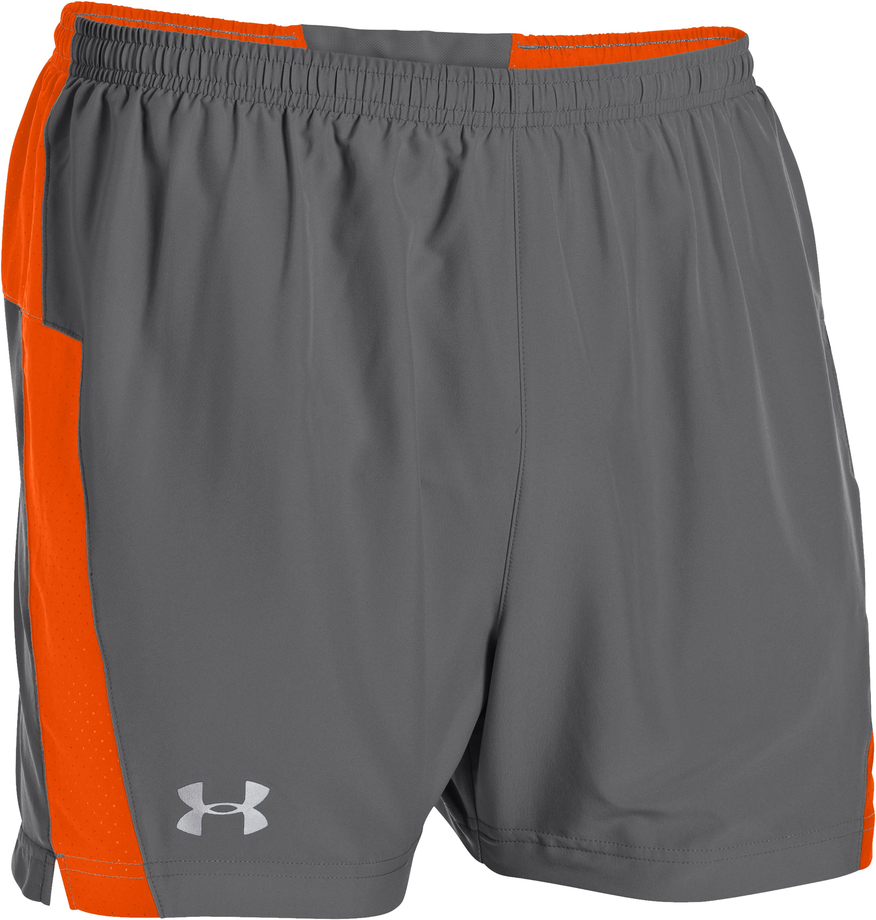 Men's UA HeatGear® Flyweight Run Shorts, Graphite