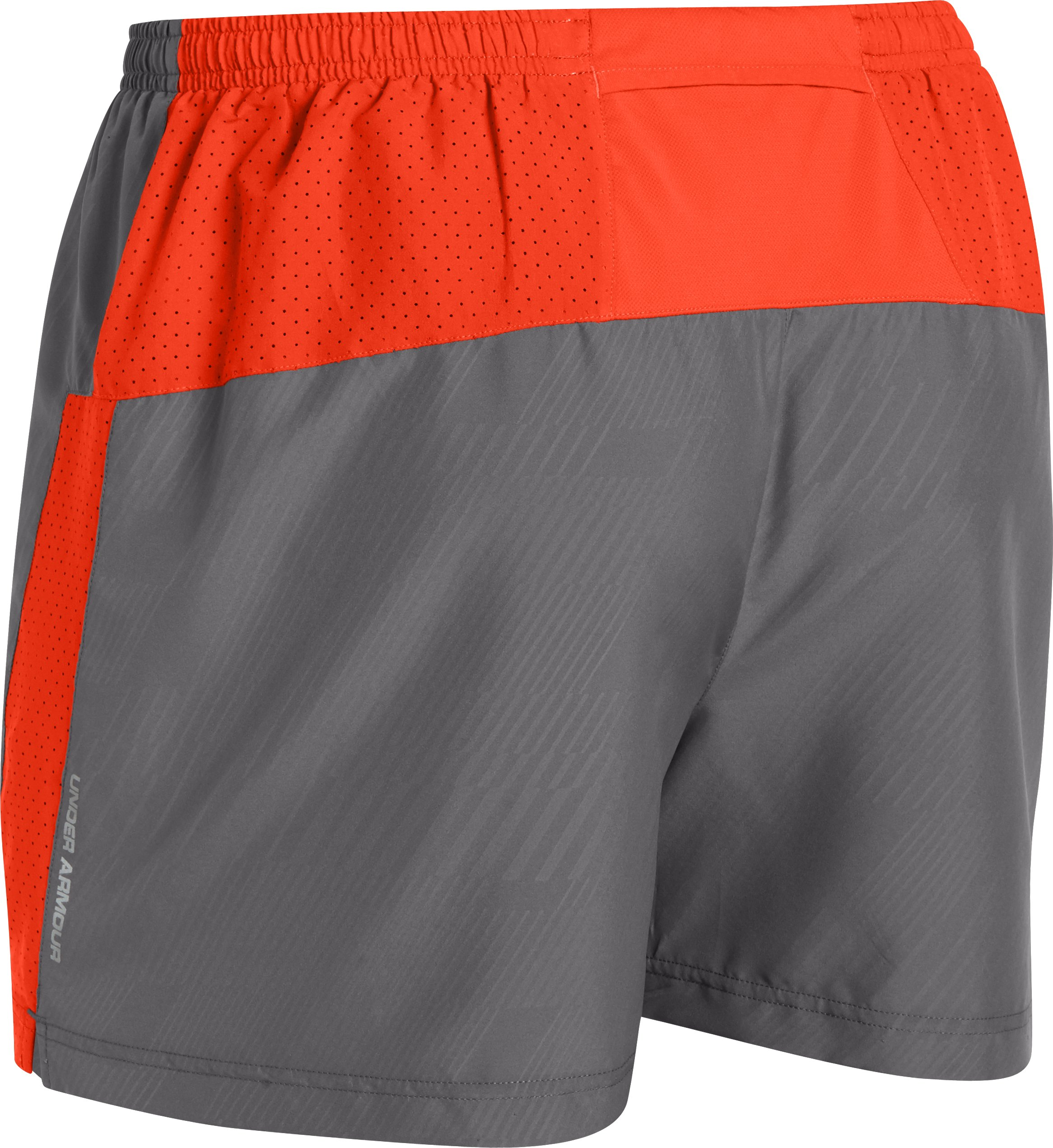 Men's UA HeatGear® Flyweight Run Shorts, Graphite,