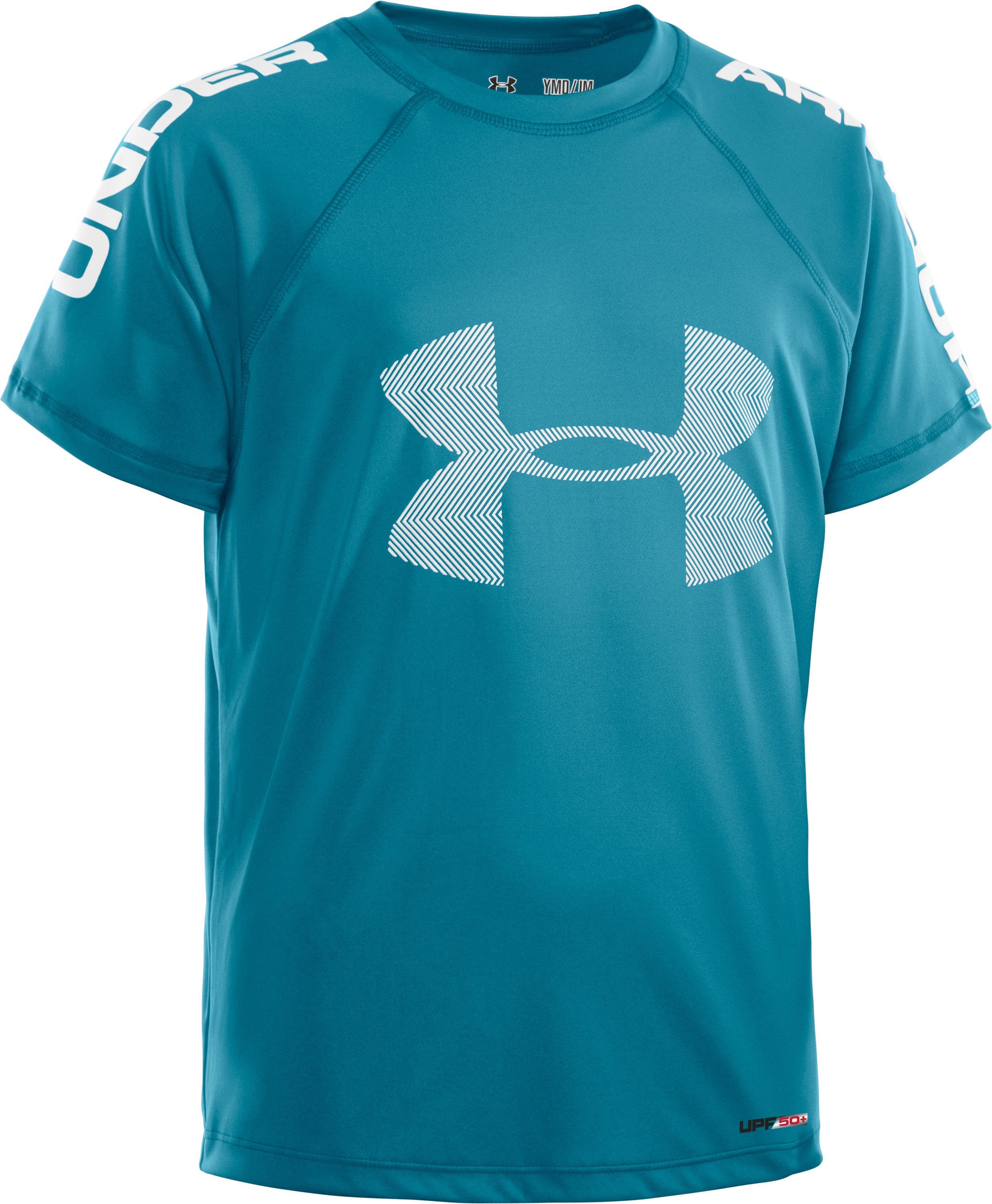 Boys' UA Ripping Sun-Activated Short Sleeve, Capri, zoomed image