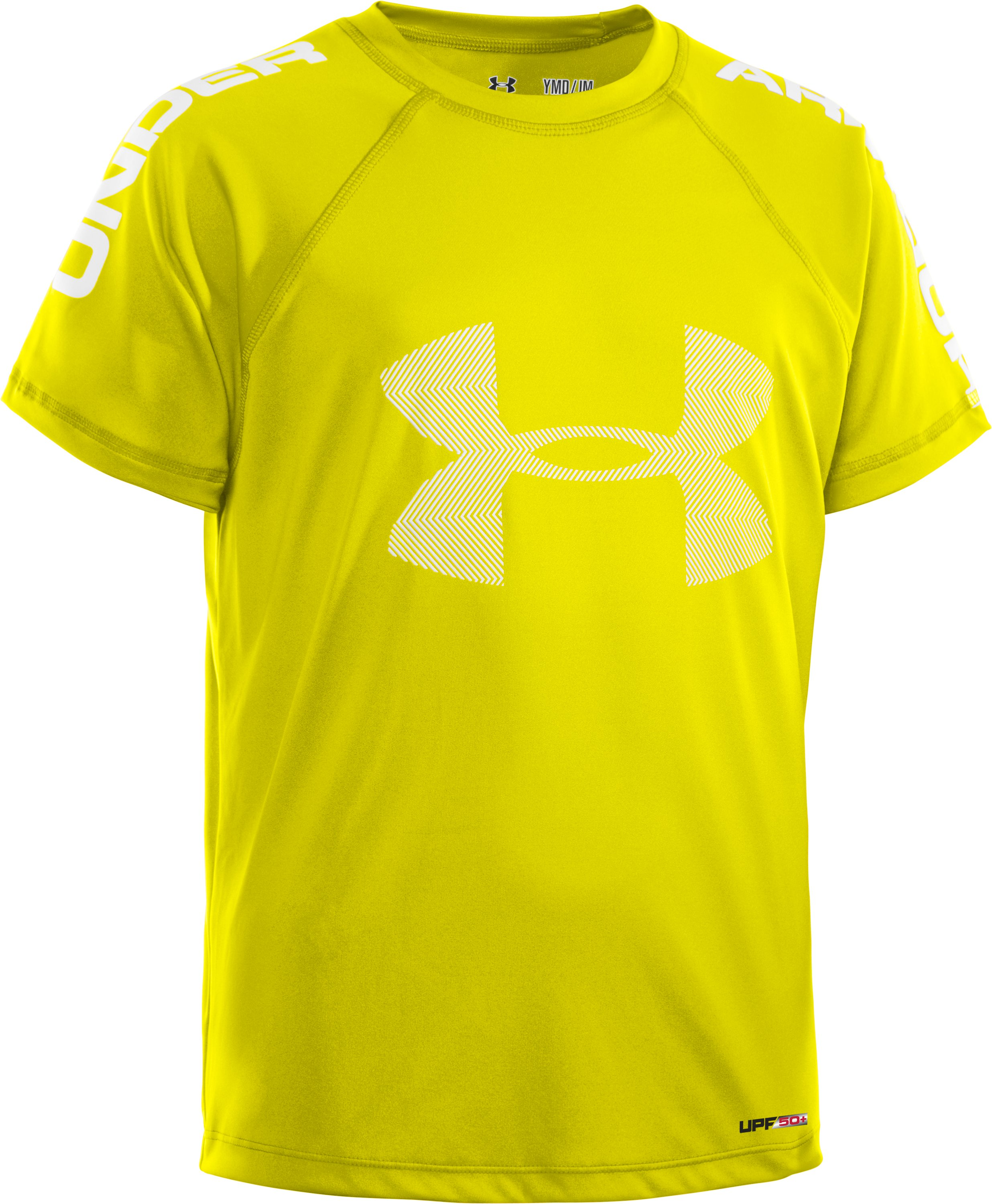 Boys' UA Ripping Sun-Activated Short Sleeve, Sunbleached, zoomed image