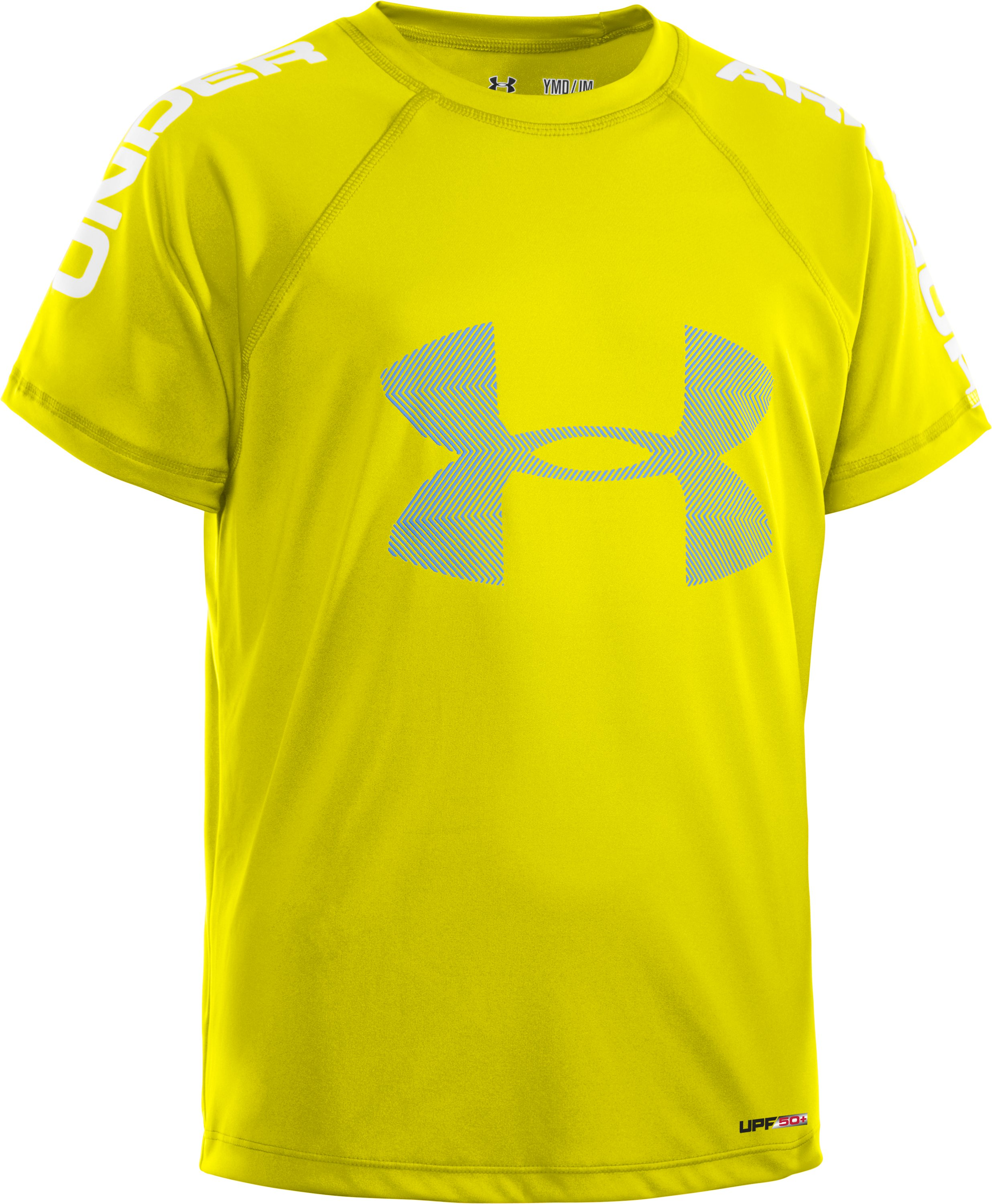 Boys' UA Ripping Sun-Activated Short Sleeve, Sunbleached