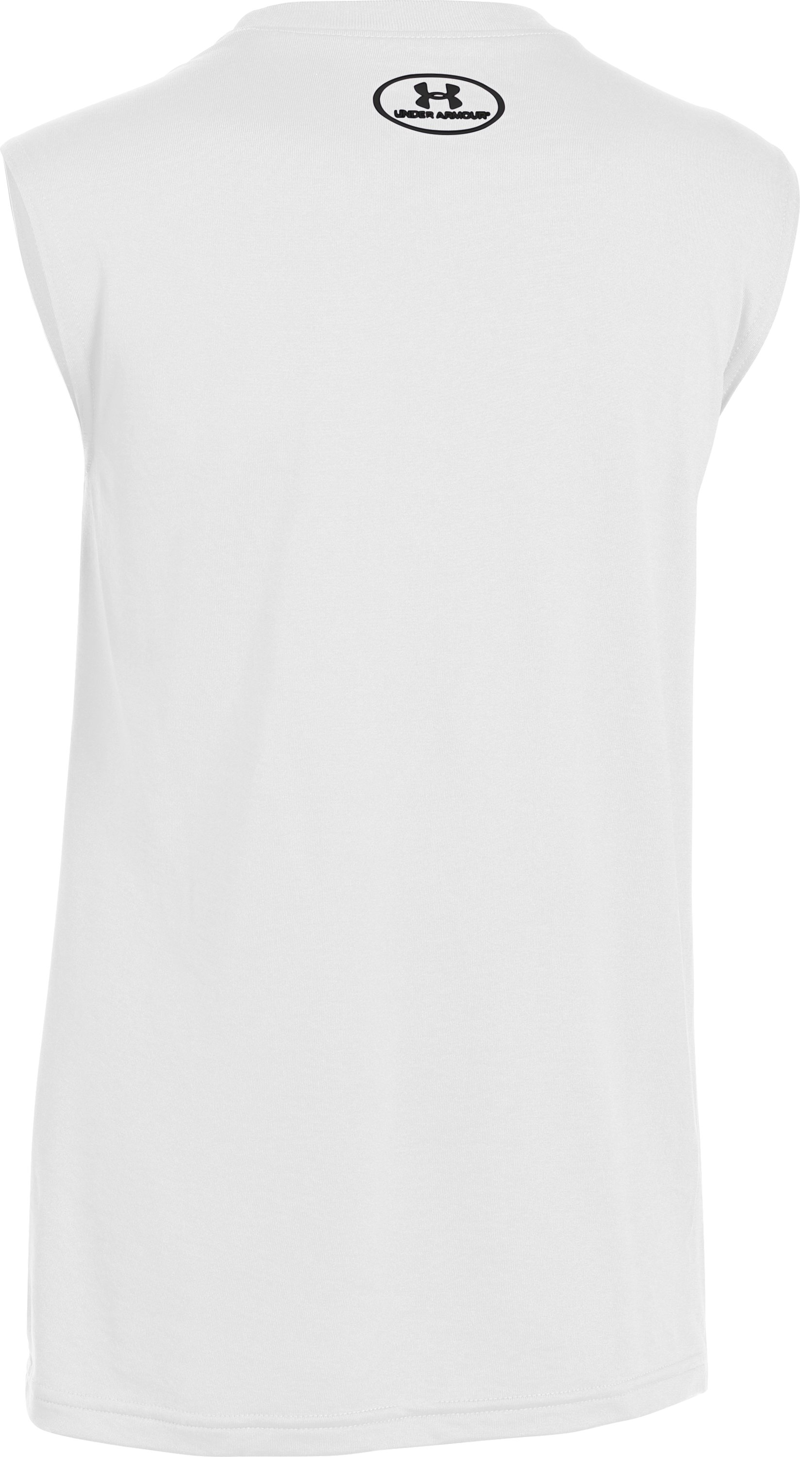 Boys' UA Tech™ Big Logo Sleeveless T-Shirt, White