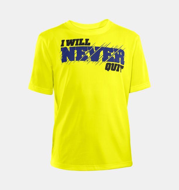 3573cec1235a Boys  UA I WILL® Never Quit T-Shirt