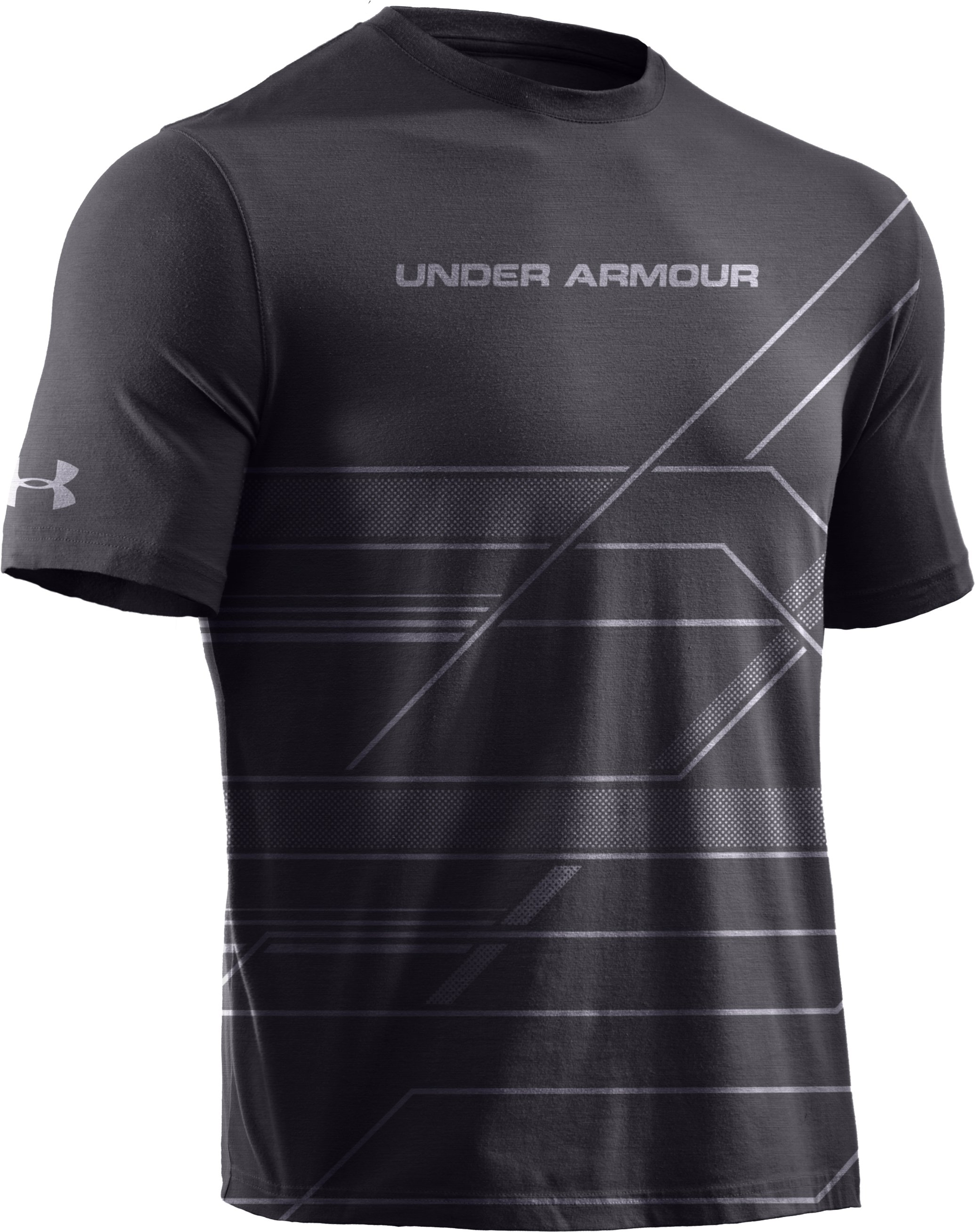 Boys' UA Domineer T-Shirt, Charcoal, zoomed image