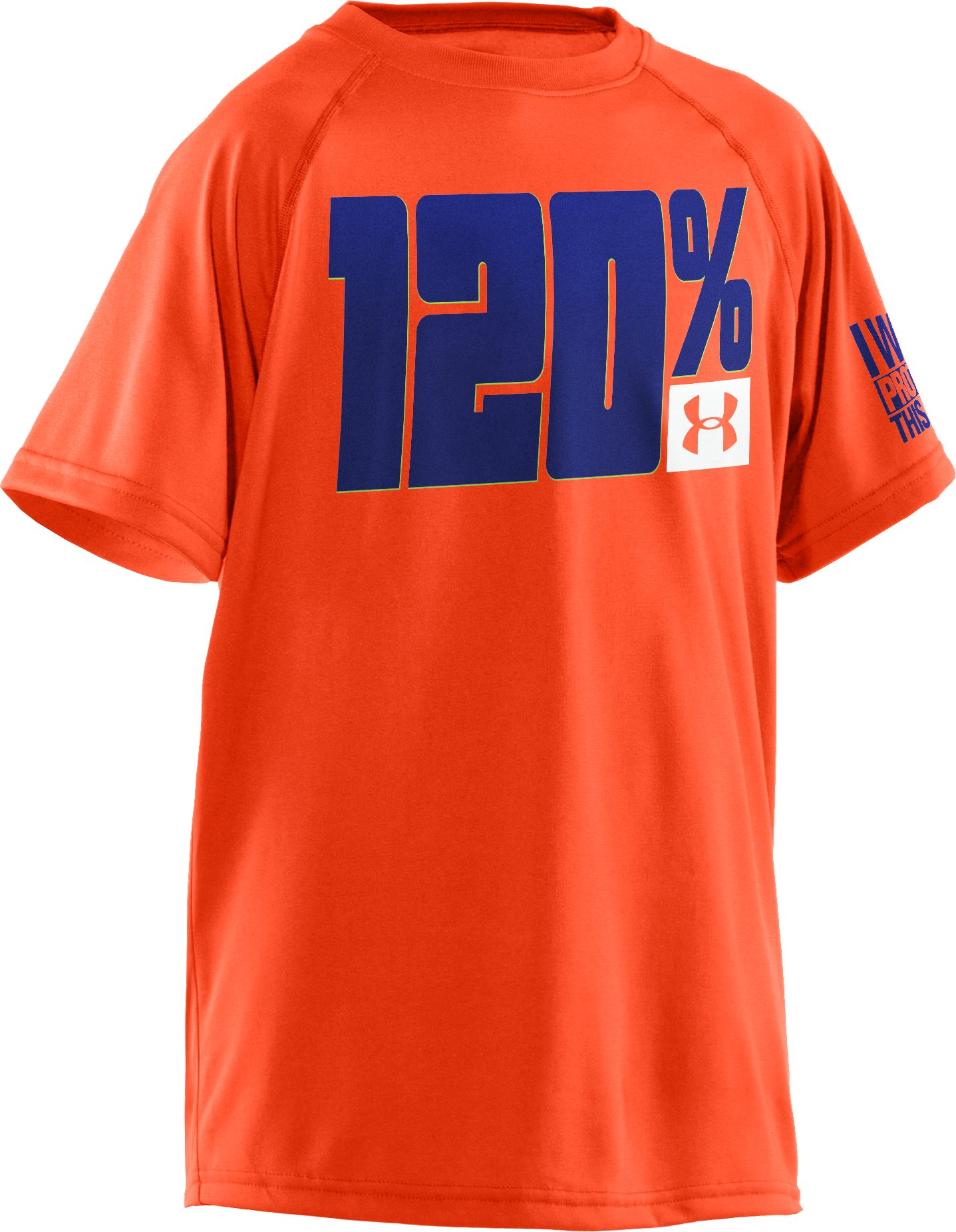 Boys' UA 120% T-Shirt, Toxic, undefined