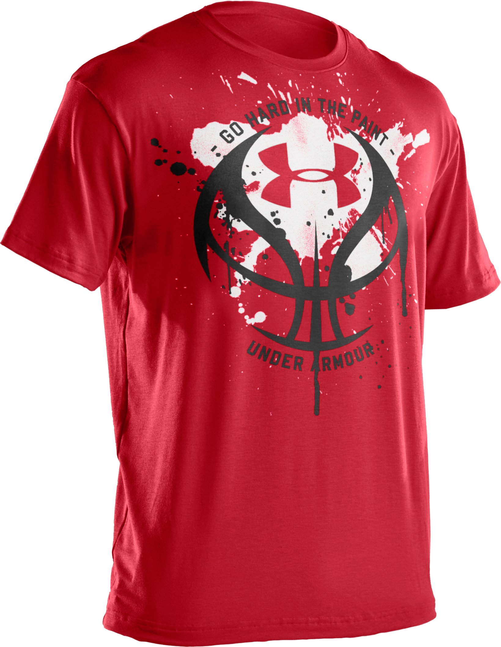 Boys' UA Splatter Icon T-Shirt, Red
